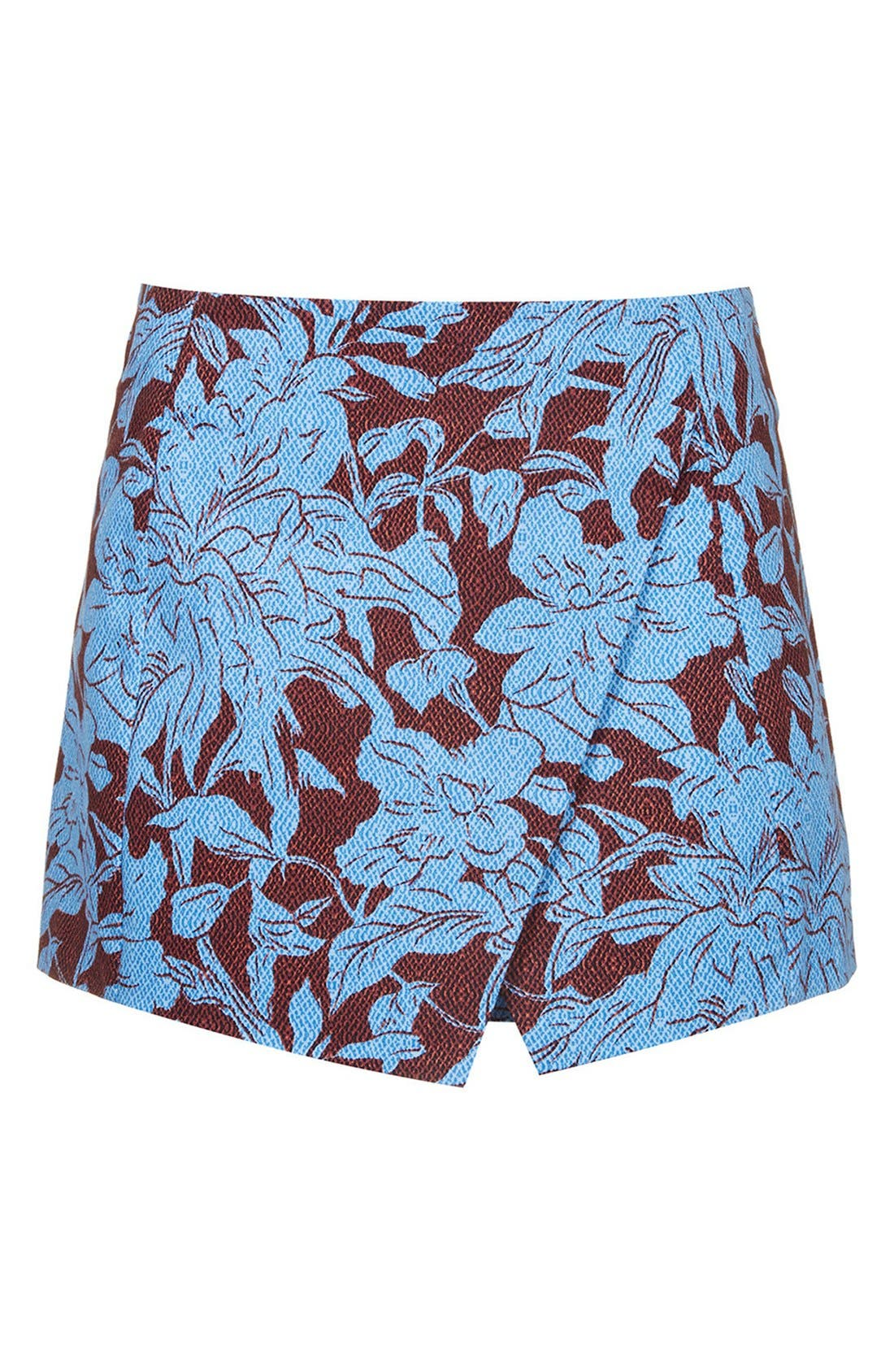 Alternate Image 3  - Topshop 'Cape Flower' Textured Wrap Skort