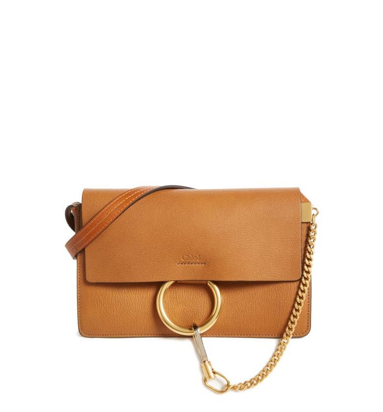 4e9ad35a9a23e7 Small Faye Goatskin Leather Crossbody Bag Chloé | Stanford Center ...