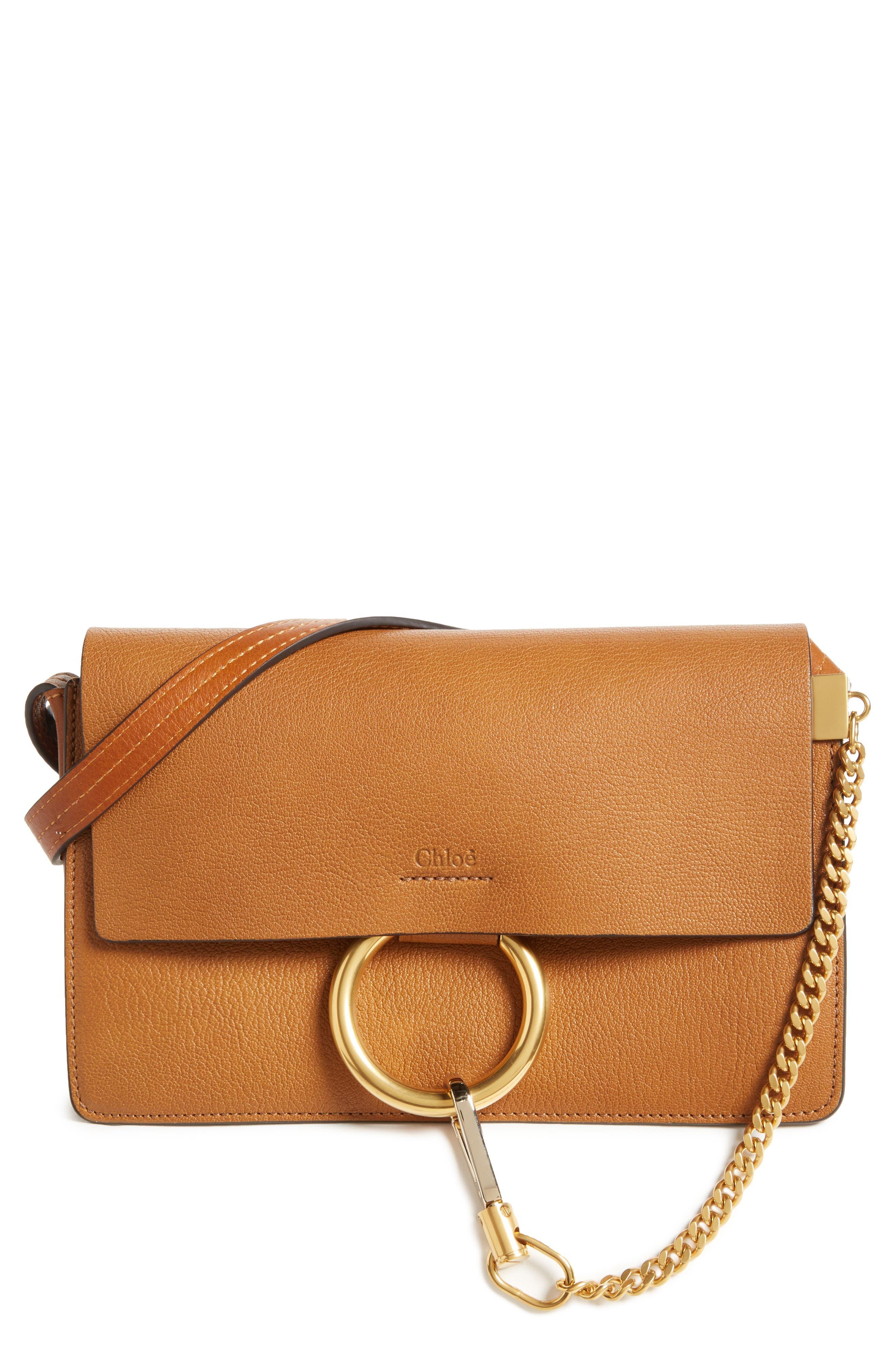 Chloé Small Faye Goatskin Leather Crossbody Bag