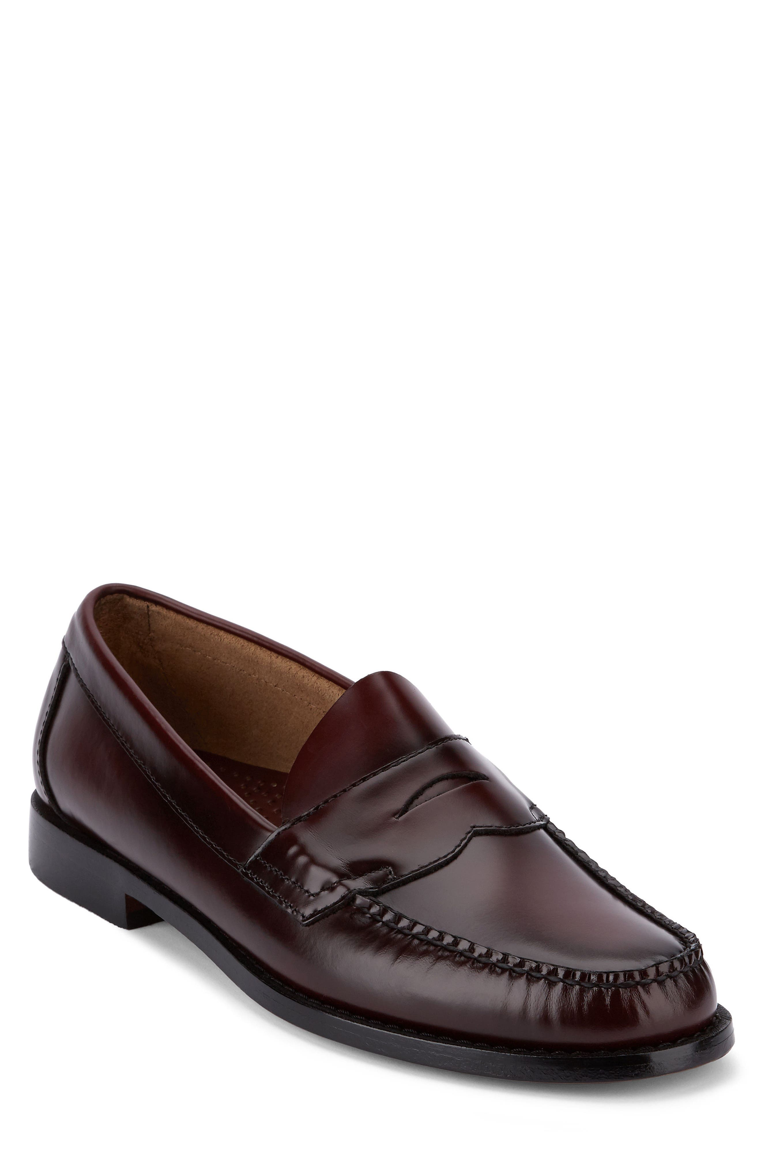 Logan Penny Loafer,                             Main thumbnail 1, color,                             Burgundy Leather