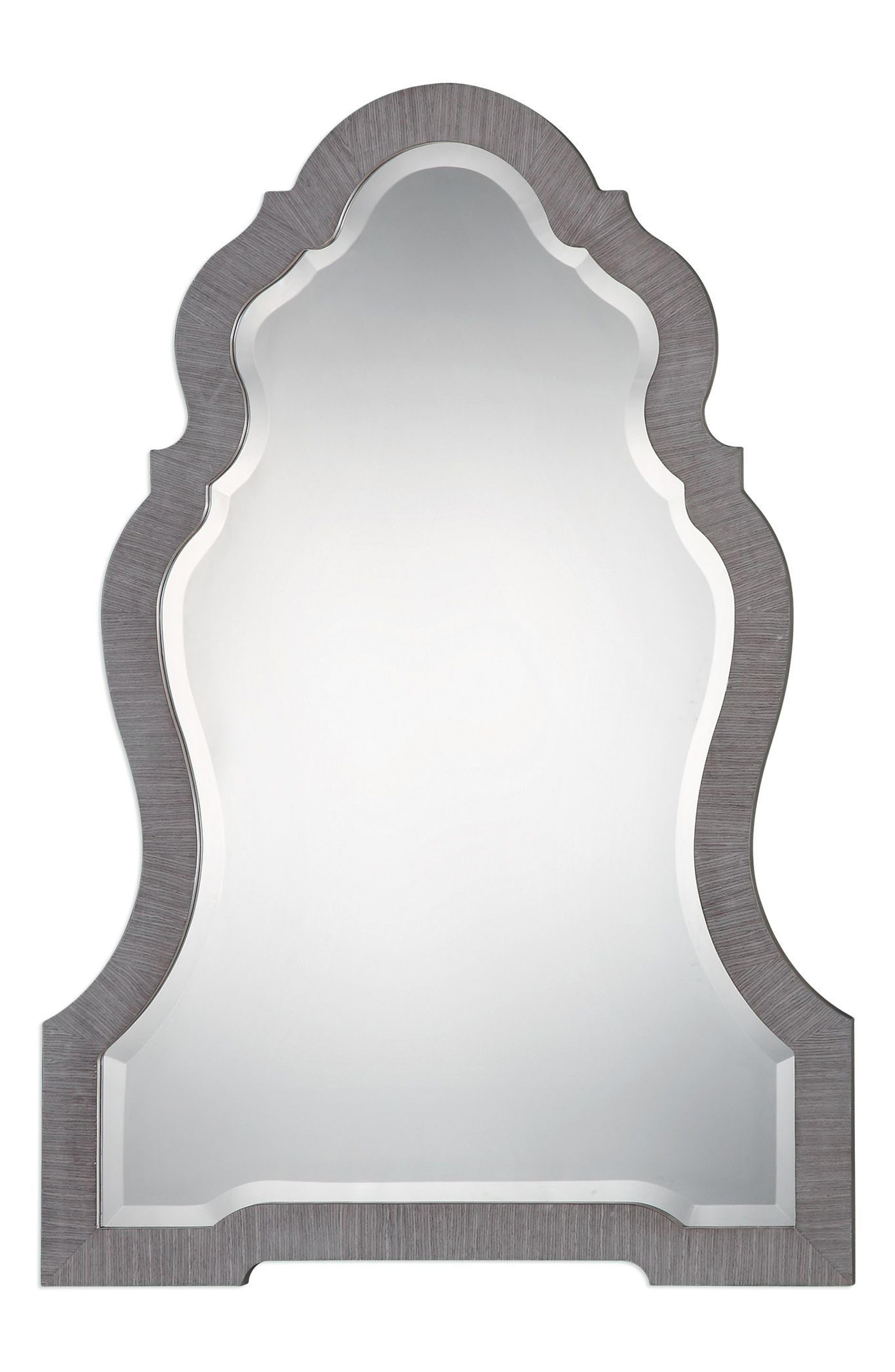 Carroll Wall Mirror,                             Main thumbnail 1, color,                             Metallic Silver