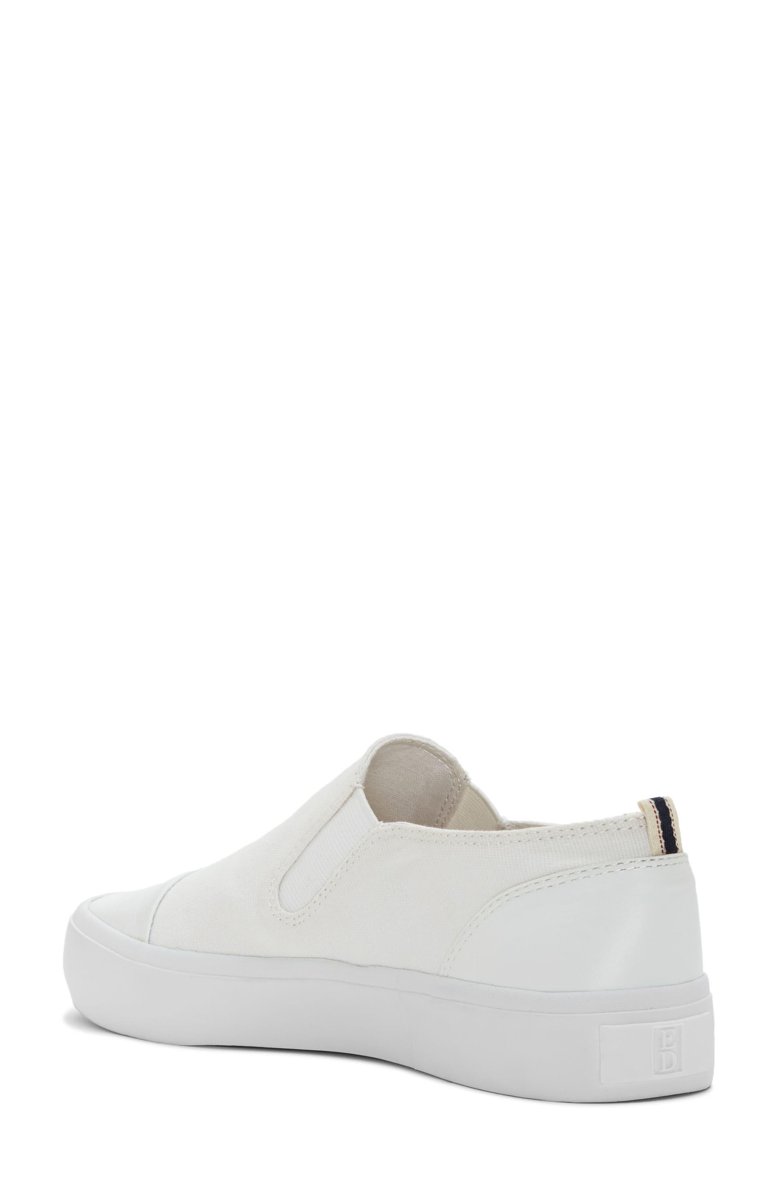 Darja Slip-On Sneaker,                             Alternate thumbnail 2, color,                             Pure White Fabric