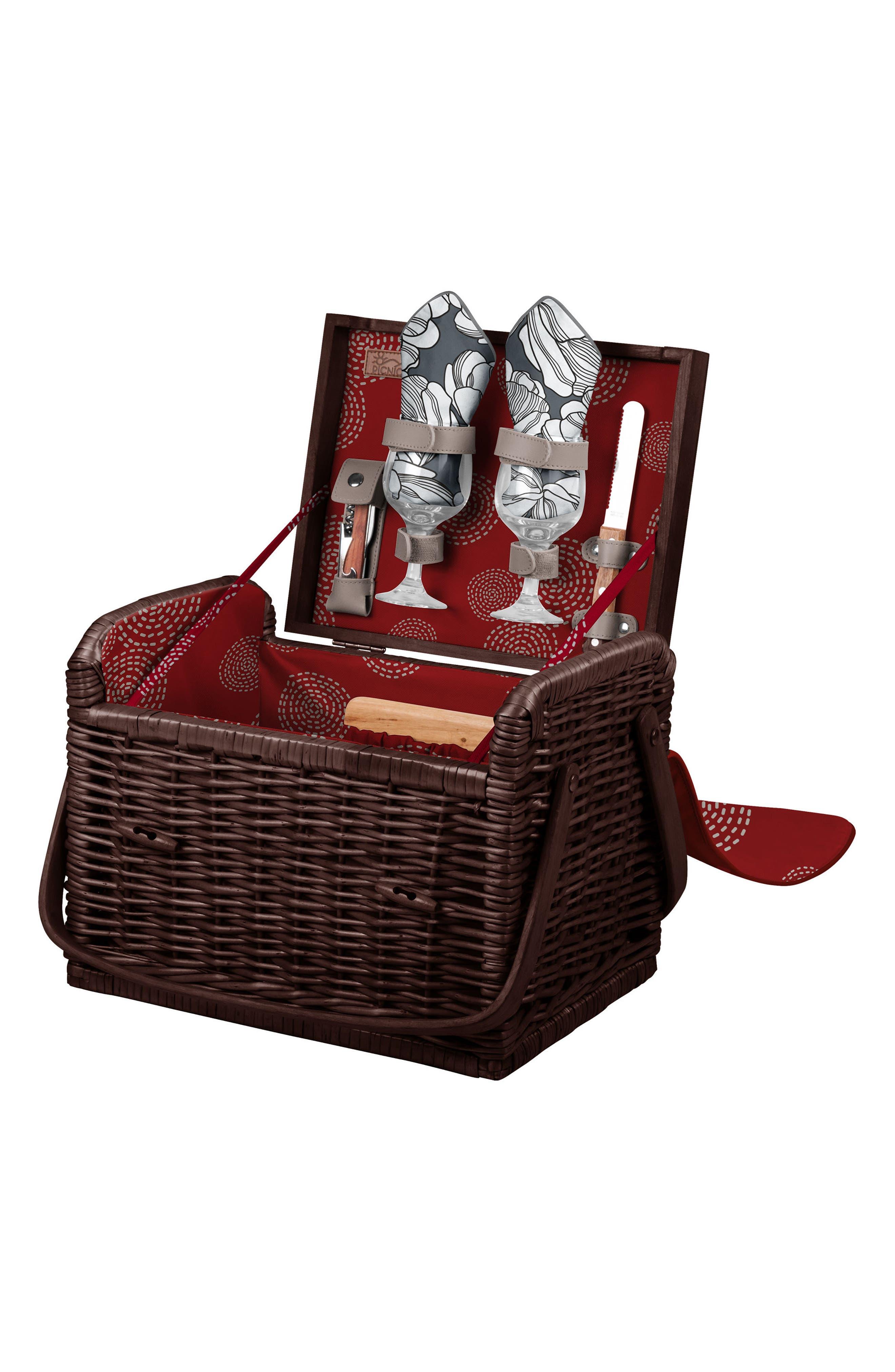 Alternate Image 2  - Picnic Time Kabrio Wine & Cheese Picnic Basket