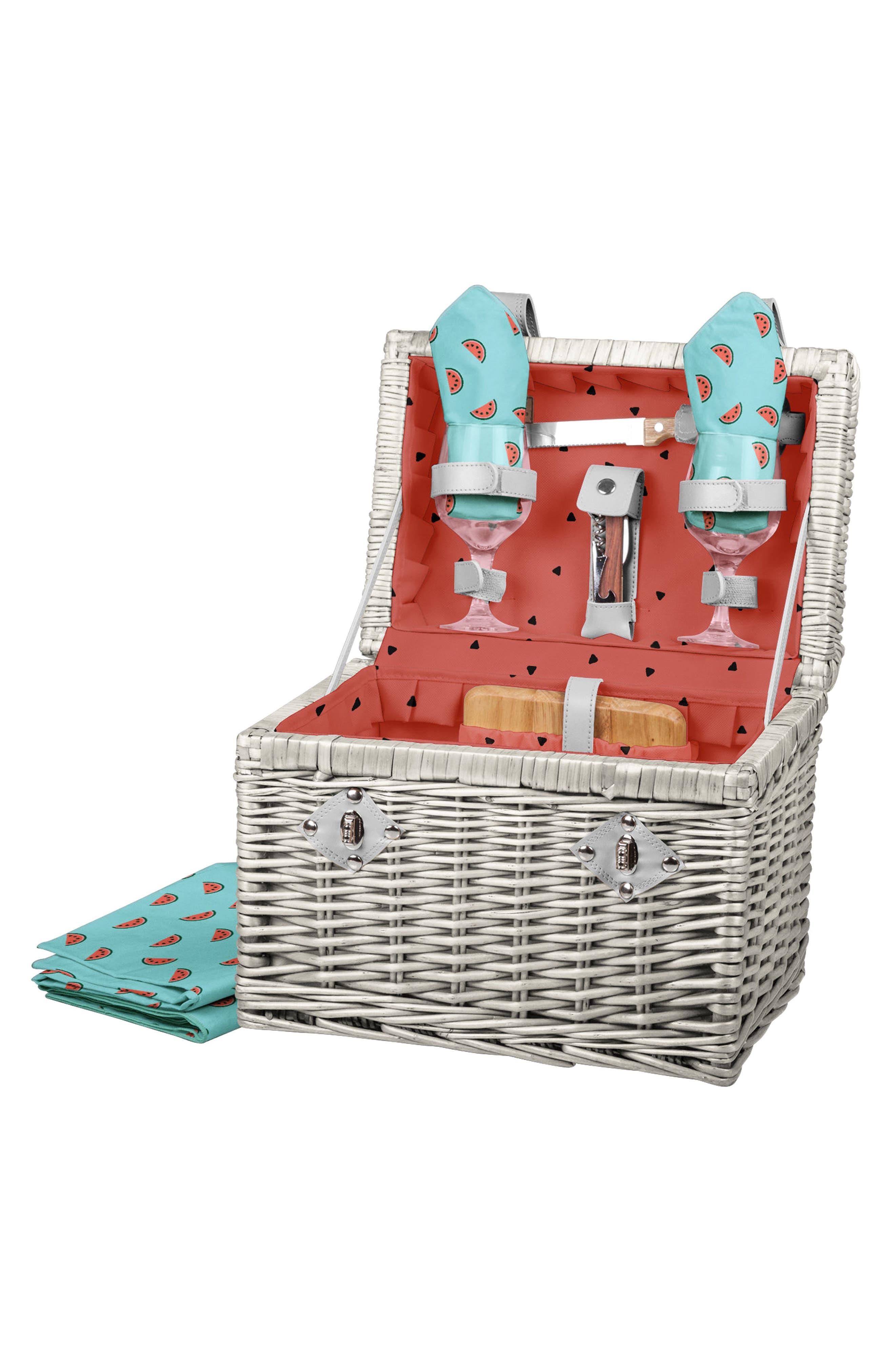 Main Image - Picnic Time Napa Wicker Wine & Cheese Basket