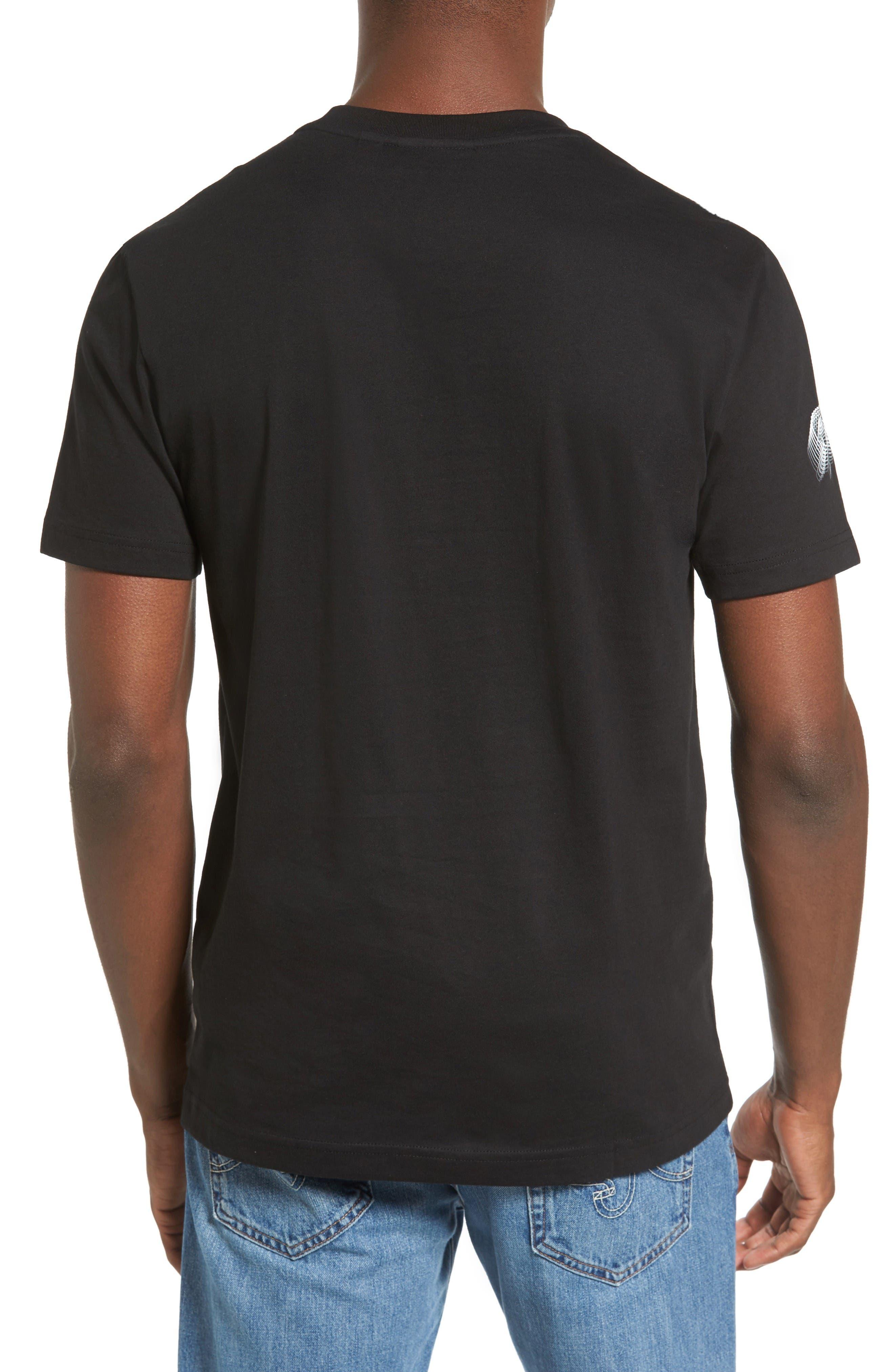 3D Print Logo Graphic T-Shirt,                             Alternate thumbnail 2, color,                             Black/ White