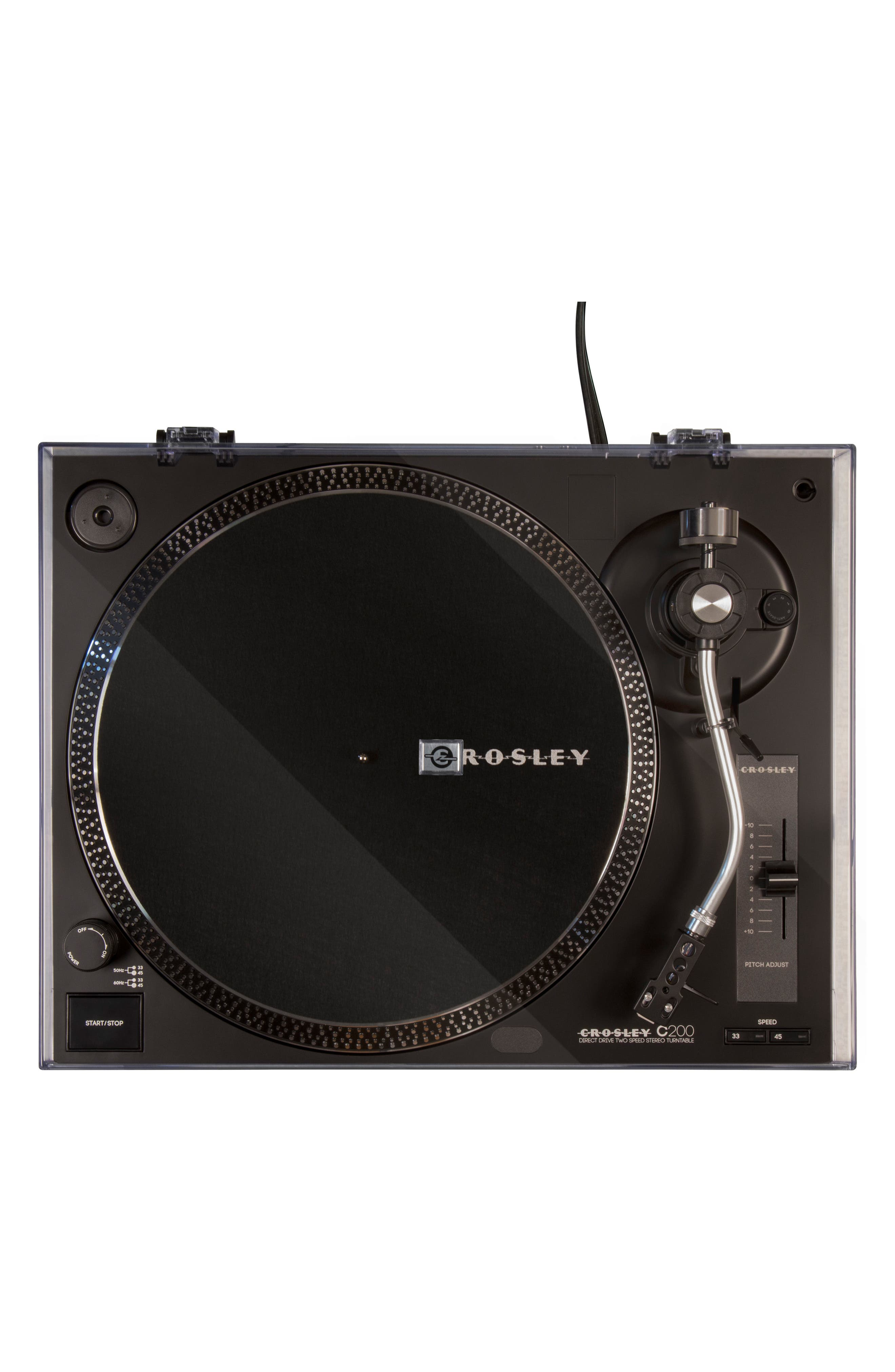 C200 Turntable,                             Alternate thumbnail 4, color,                             Black