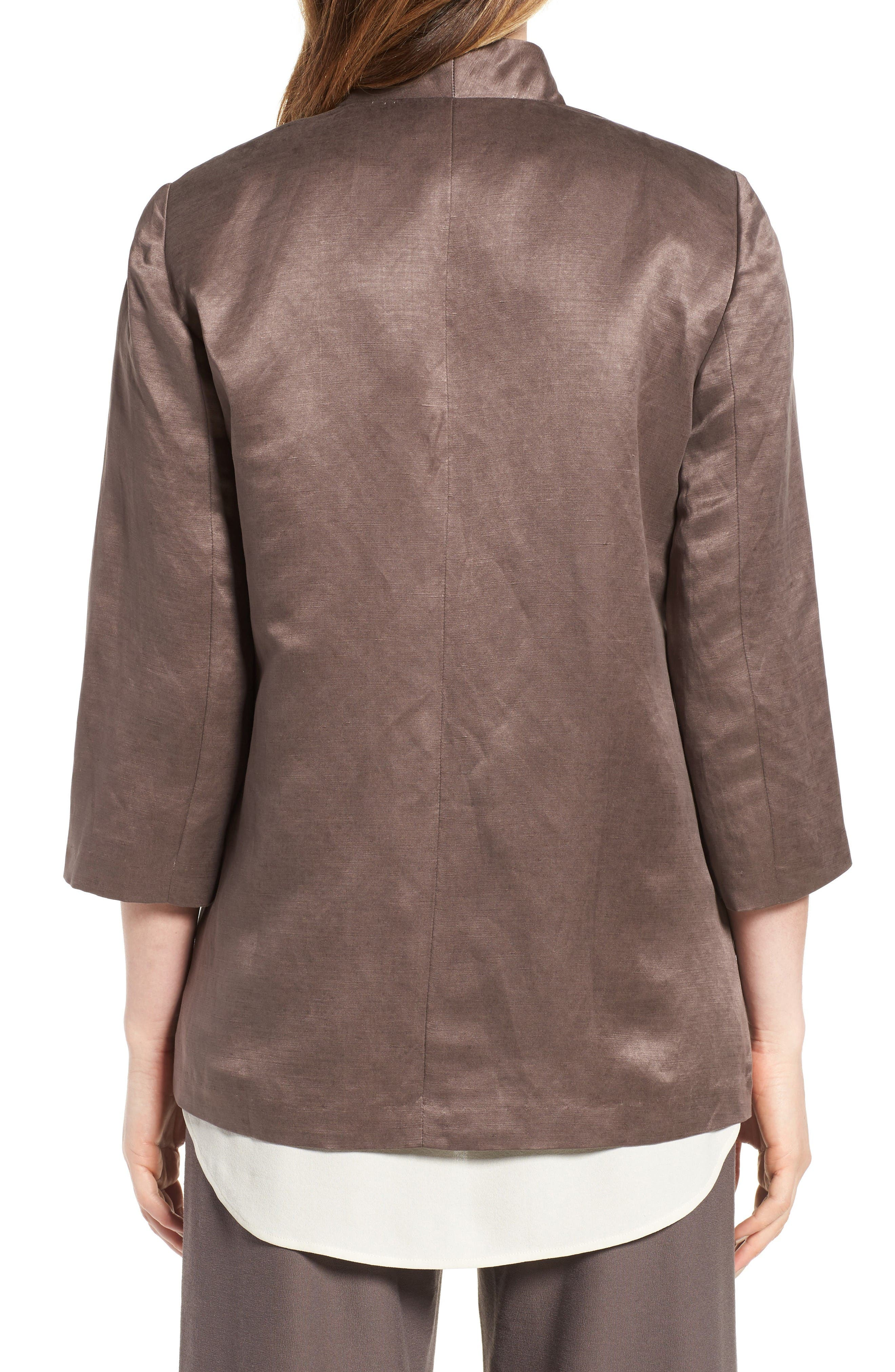 Alternate Image 2  - Eileen Fisher Organic Linen & Silk Jacket (Regular & Petite)