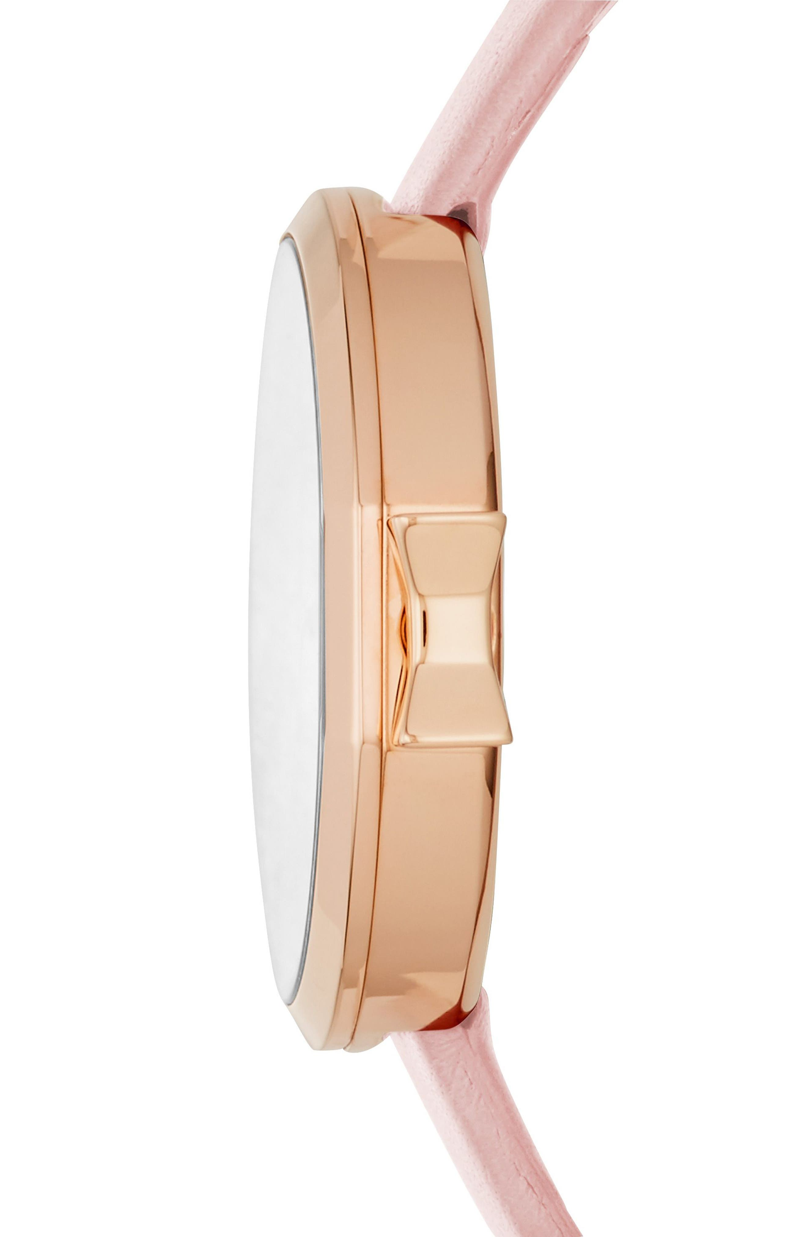 Alternate Image 2  - kate spade new york park row leather strap watch, 34mm
