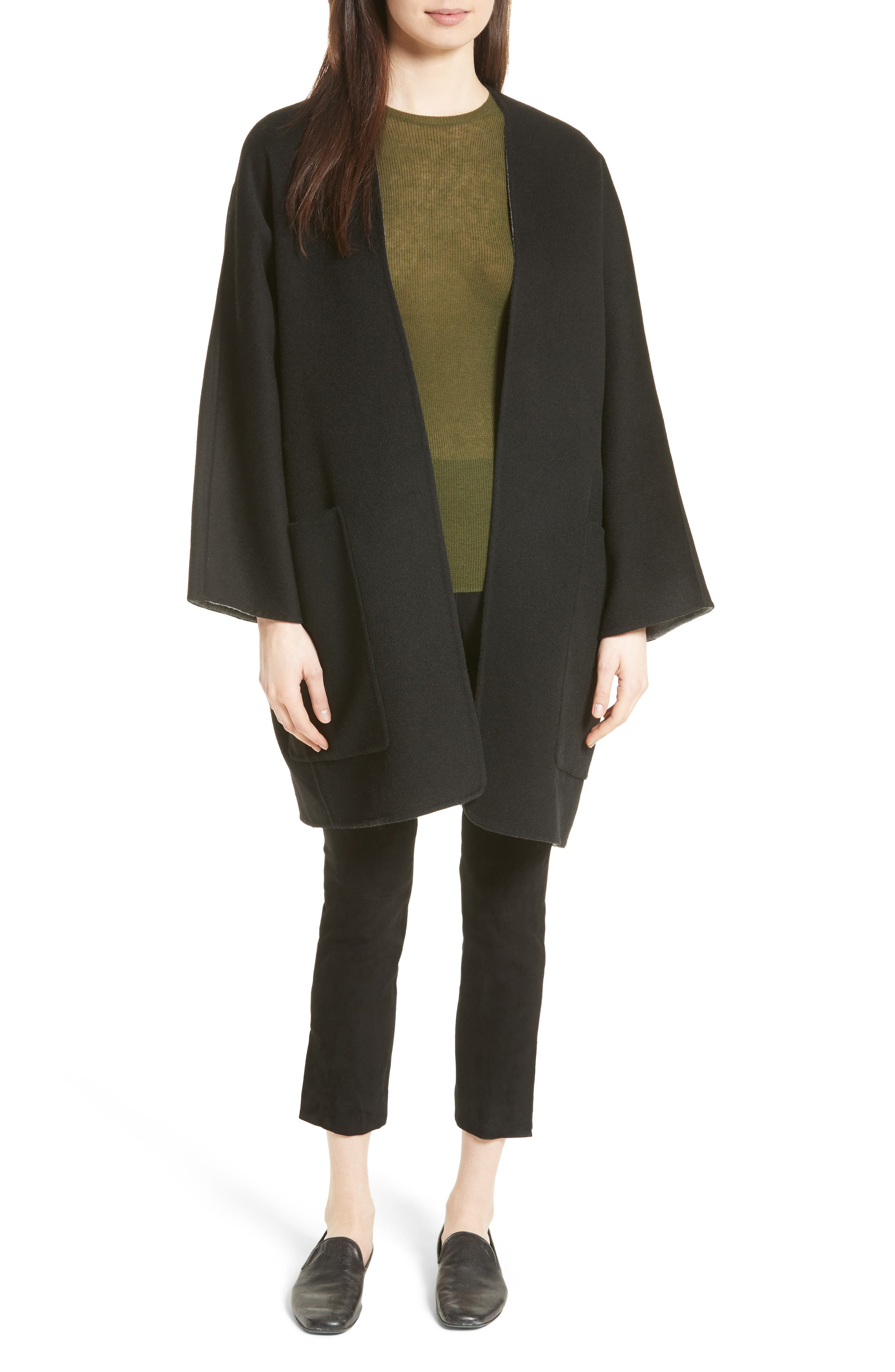 Alternate Image 2  - Vince Reversible Wool & Cashmere Clutch Coat
