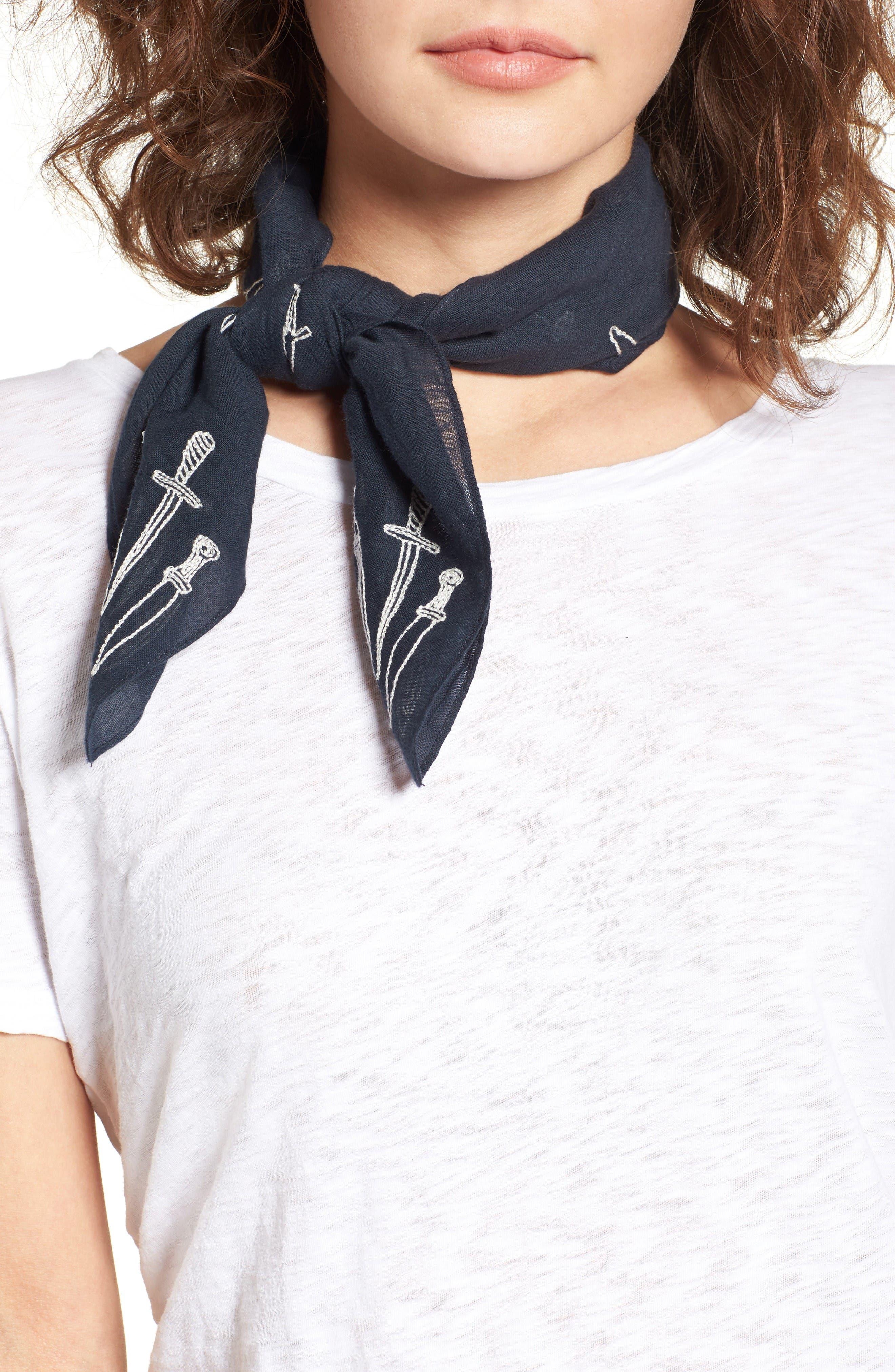 Main Image - rag & bone Embroidered Dagger Bandana