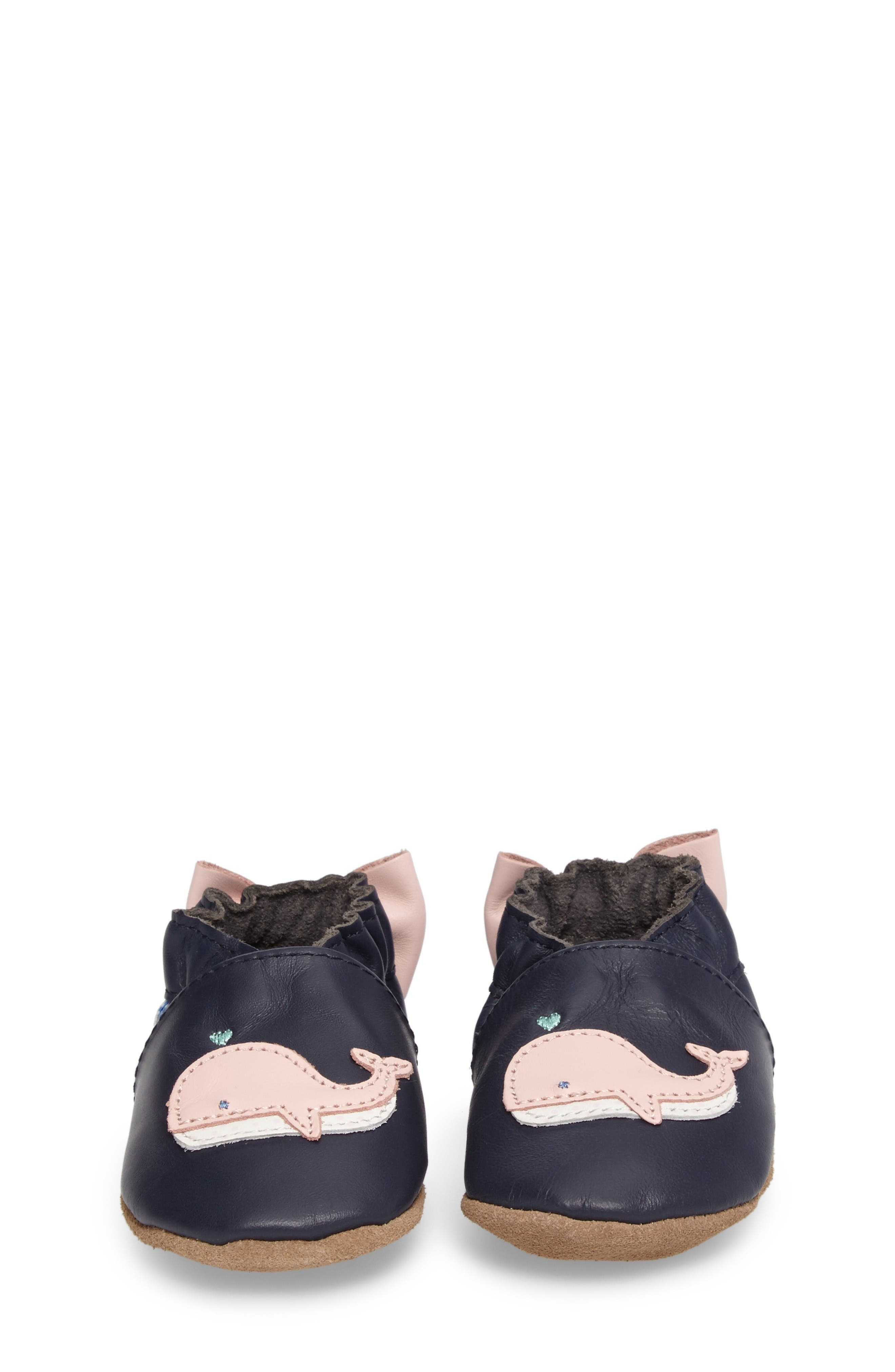 Winnie the Whale Crib Shoe,                             Alternate thumbnail 4, color,                             Navy