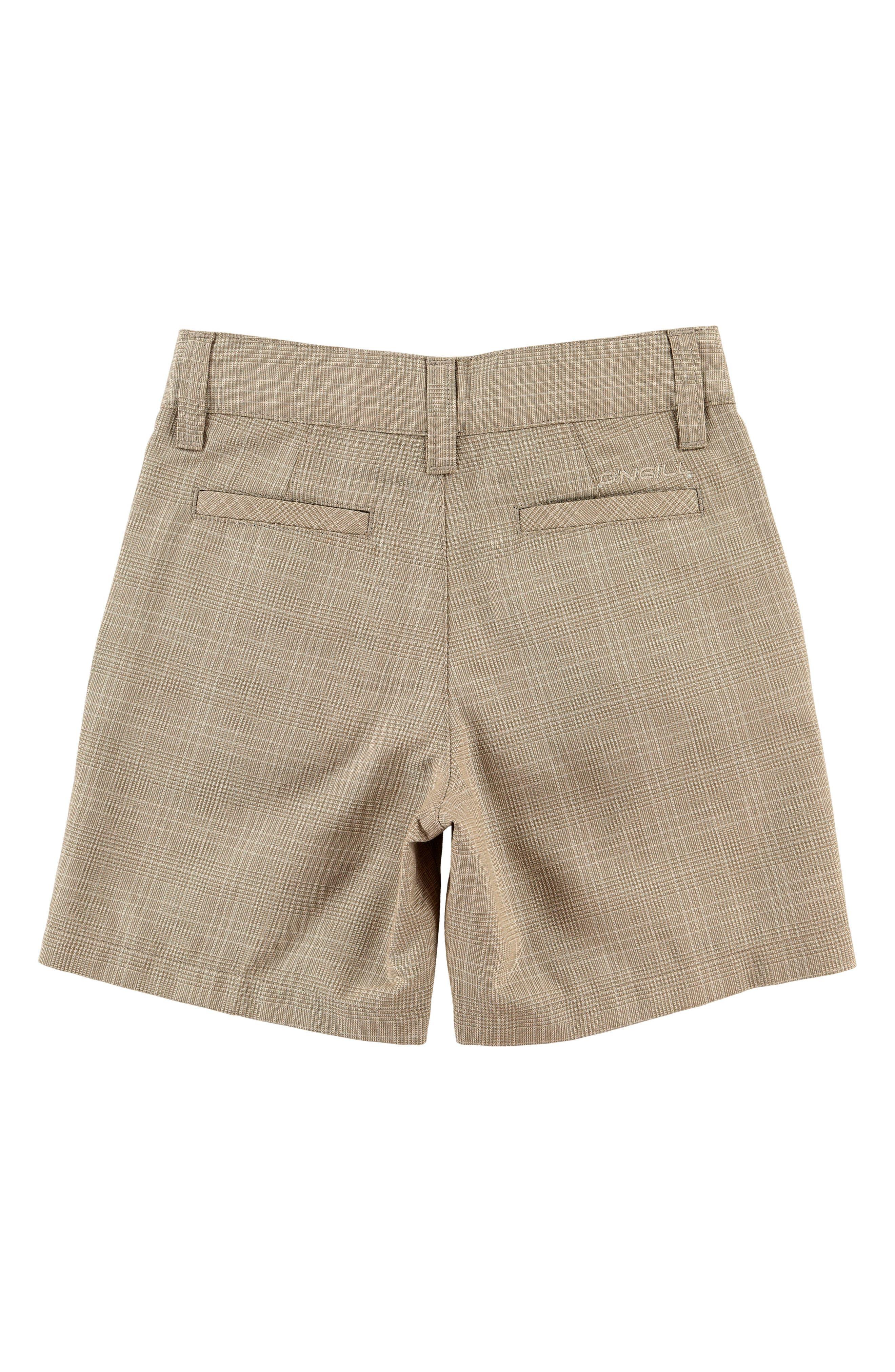 Delta Plaid Shorts,                             Alternate thumbnail 2, color,                             Dark Stone