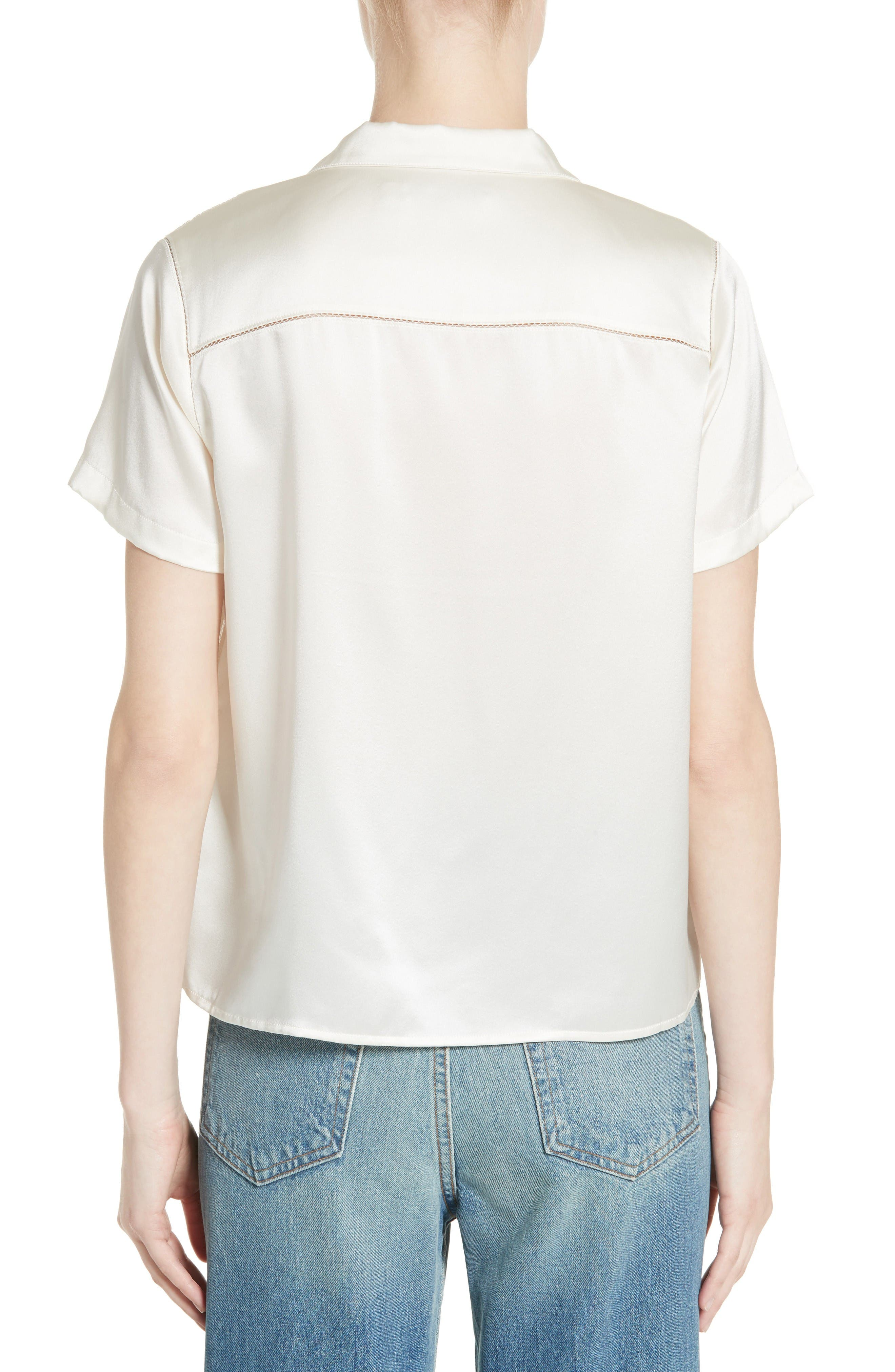 Alternate Image 2  - T by Alexander Wang Silk Shirt