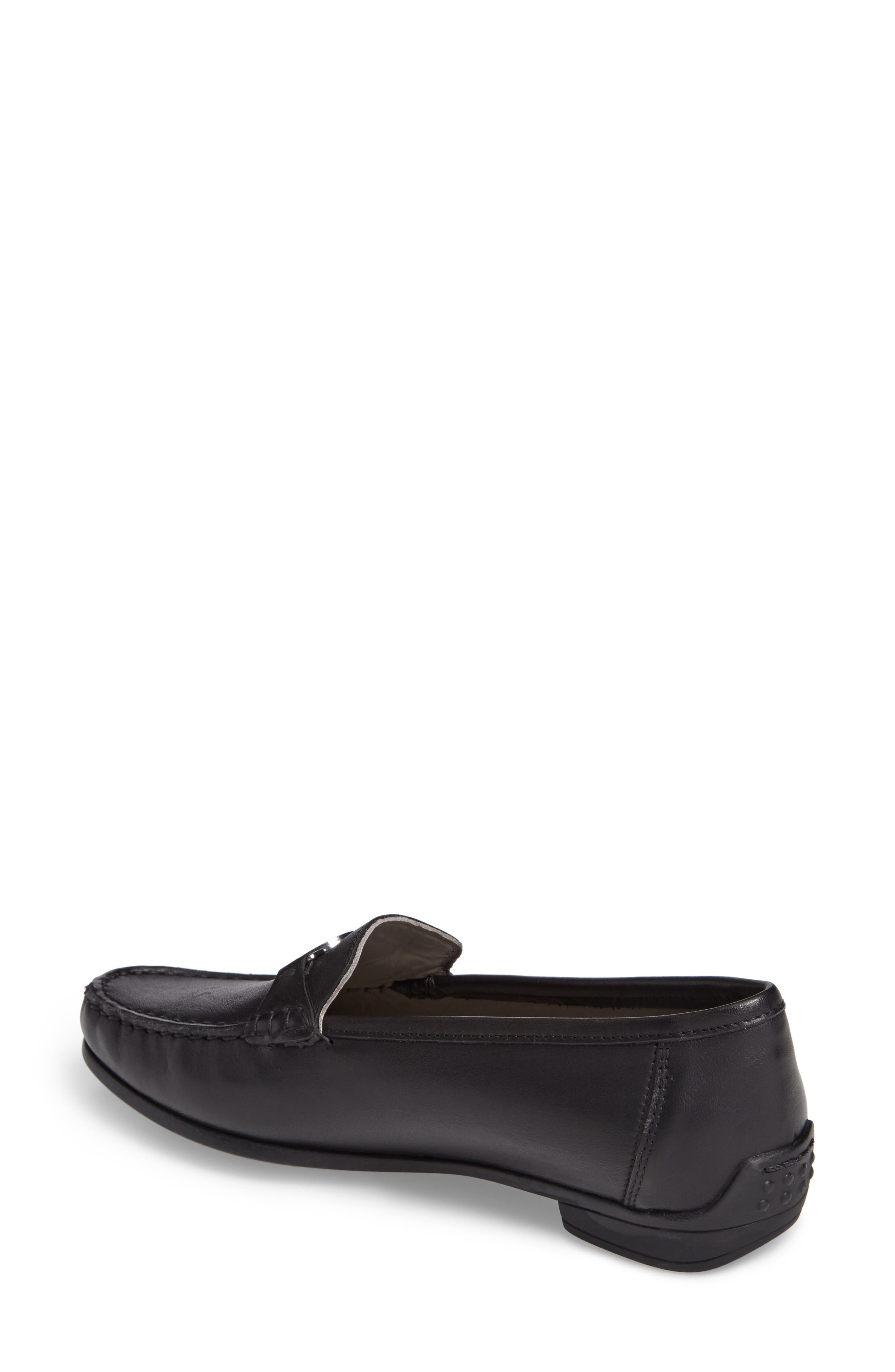 Blanche Loafer,                             Alternate thumbnail 2, color,                             Black Leather