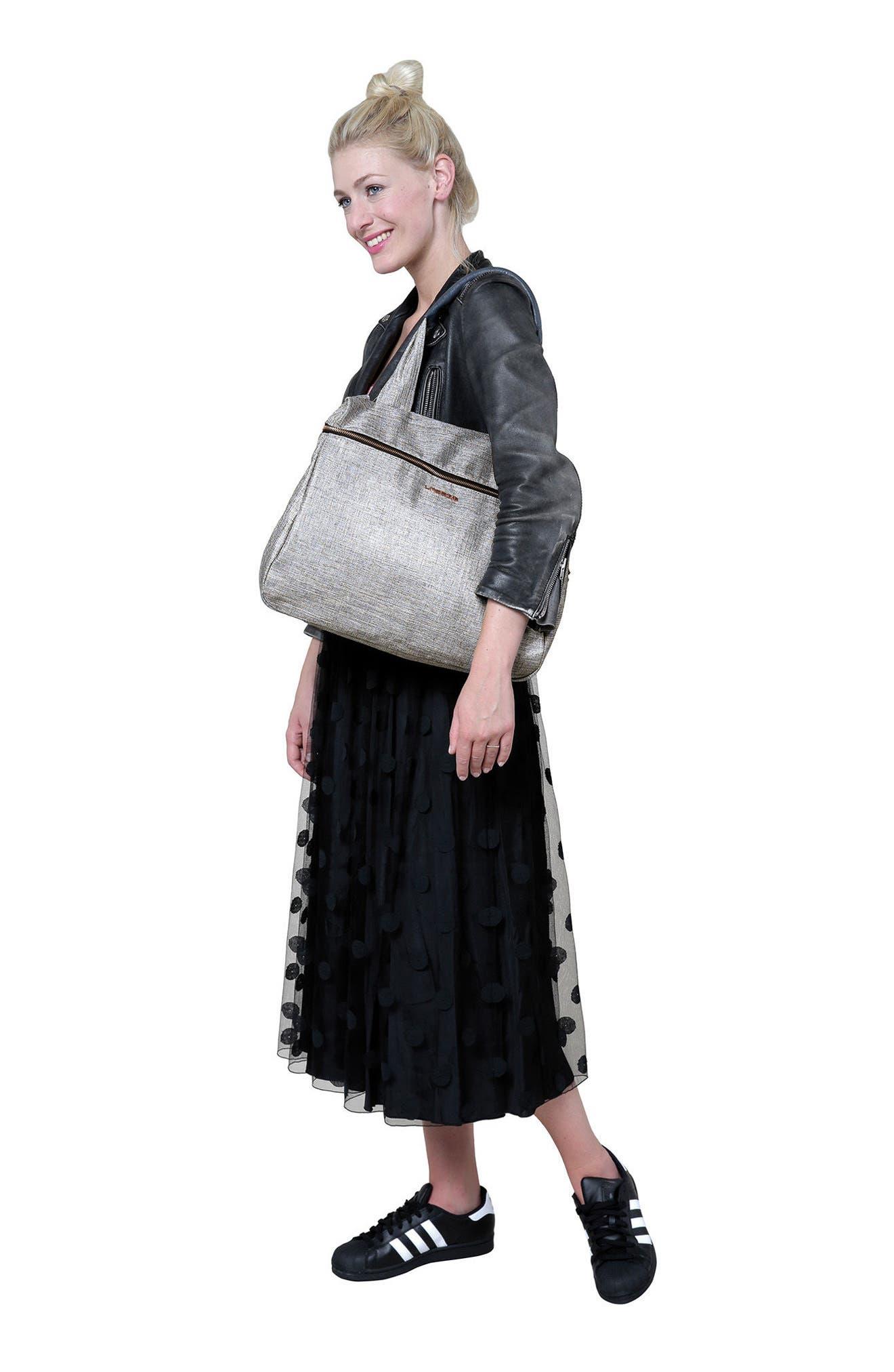 Glam Rosie Diaper Bag,                             Alternate thumbnail 9, color,                             Anthracite Glitter