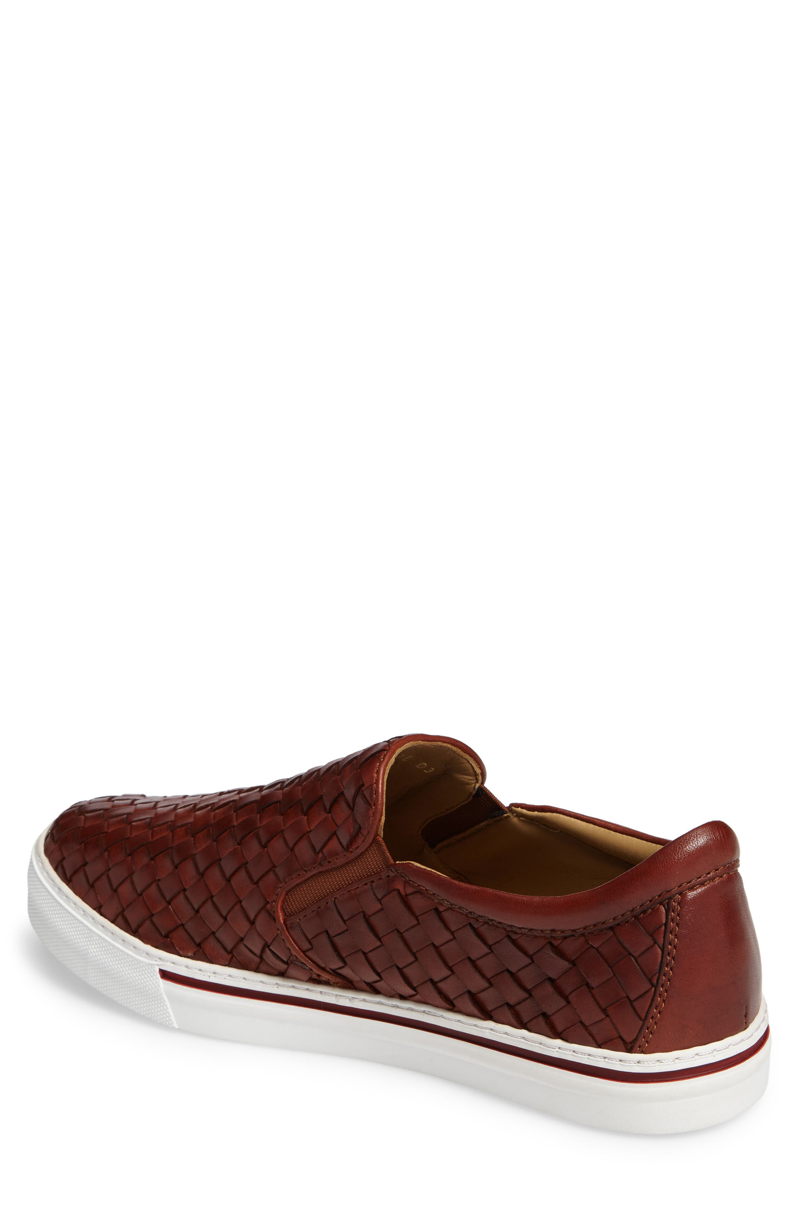 James Slip-On,                             Alternate thumbnail 2, color,                             Dark Luggage Leather