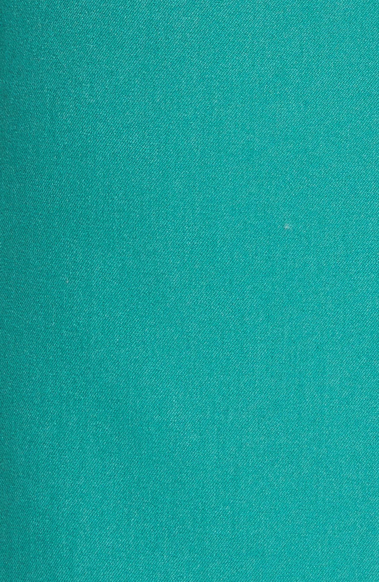 Florence Twill Minidress,                             Alternate thumbnail 6, color,                             Midori Green