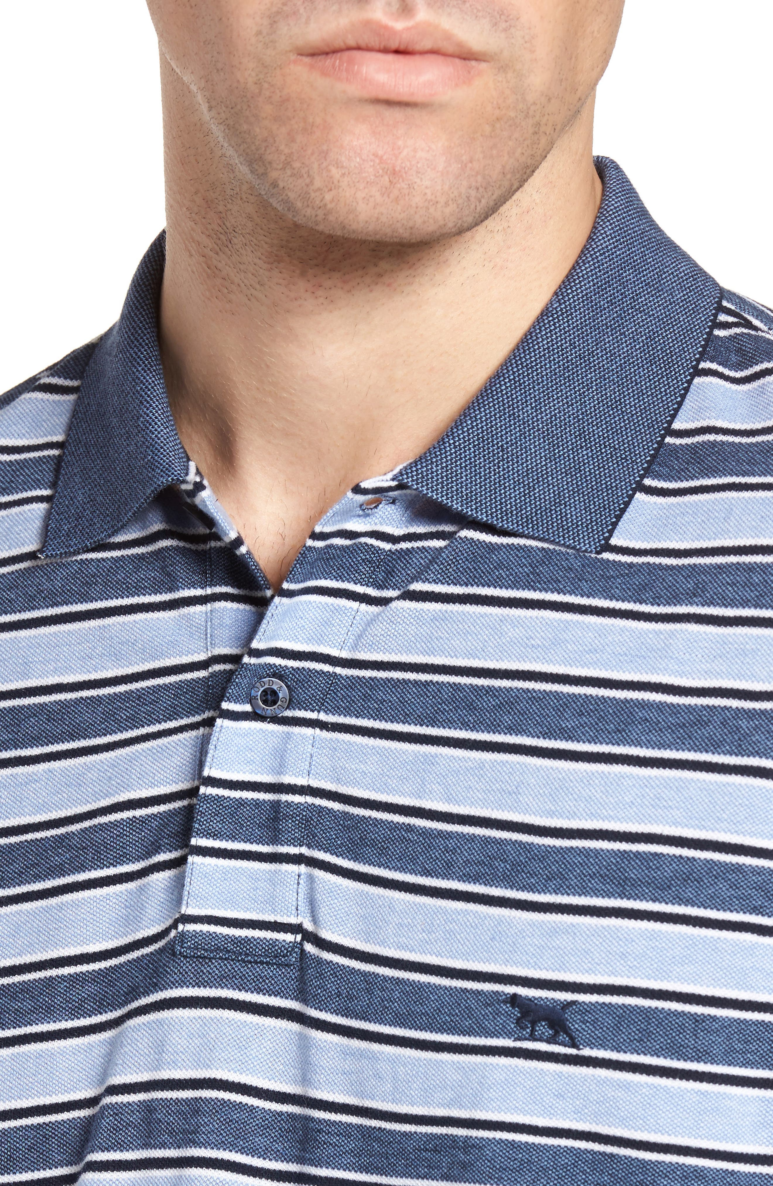 Alternate Image 4  - Rodd & Gunn Sandy Point Stripe Piqué Polo