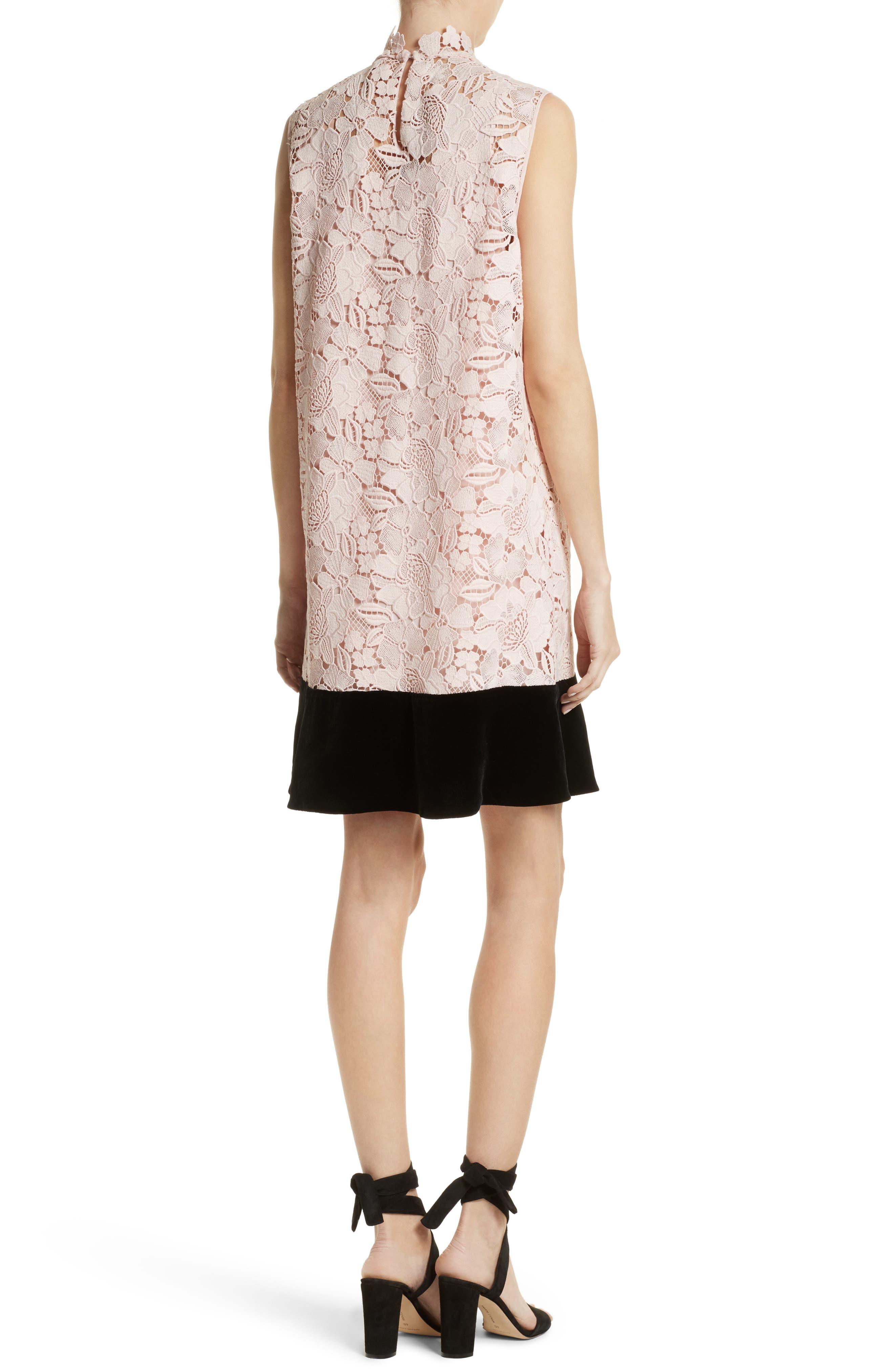 Alternate Image 2  - N°21 Lace & Velvet Shift Dress