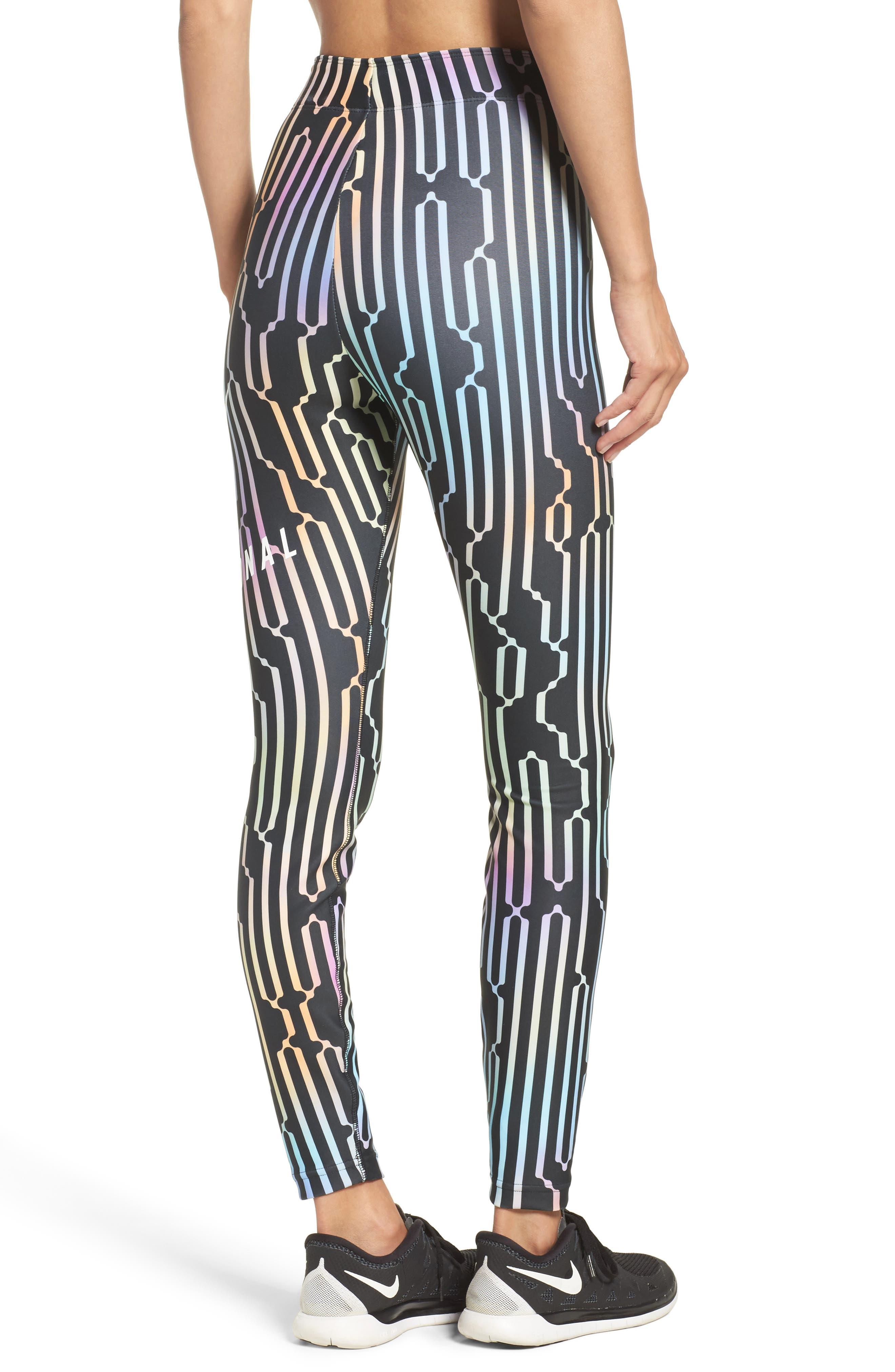 International Leggings,                             Alternate thumbnail 2, color,                             Black/ White