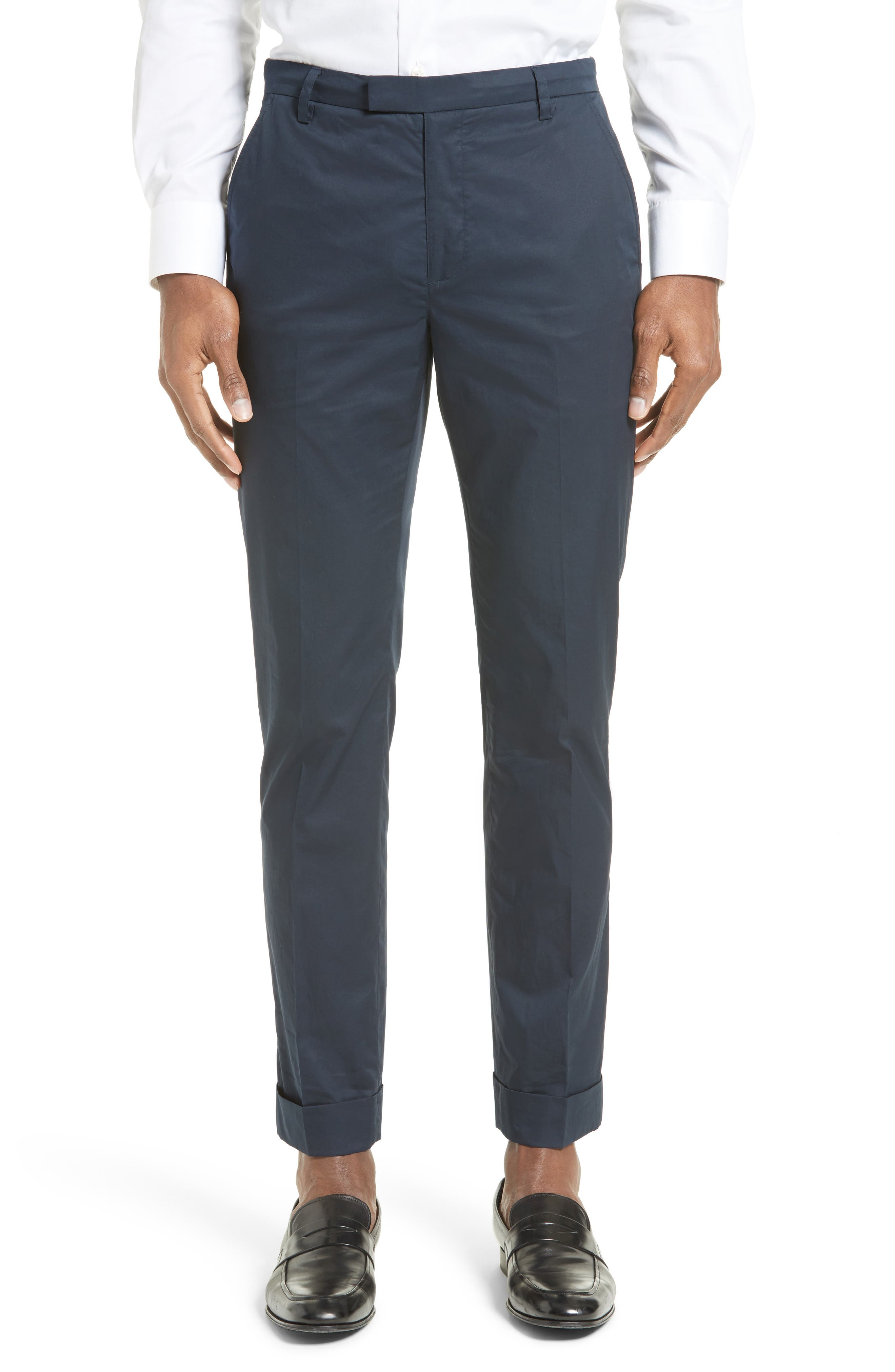 Alternate Image 1 Selected - ATM Anthony Thomas Melillo Cuffed Cotton Poplin Pants