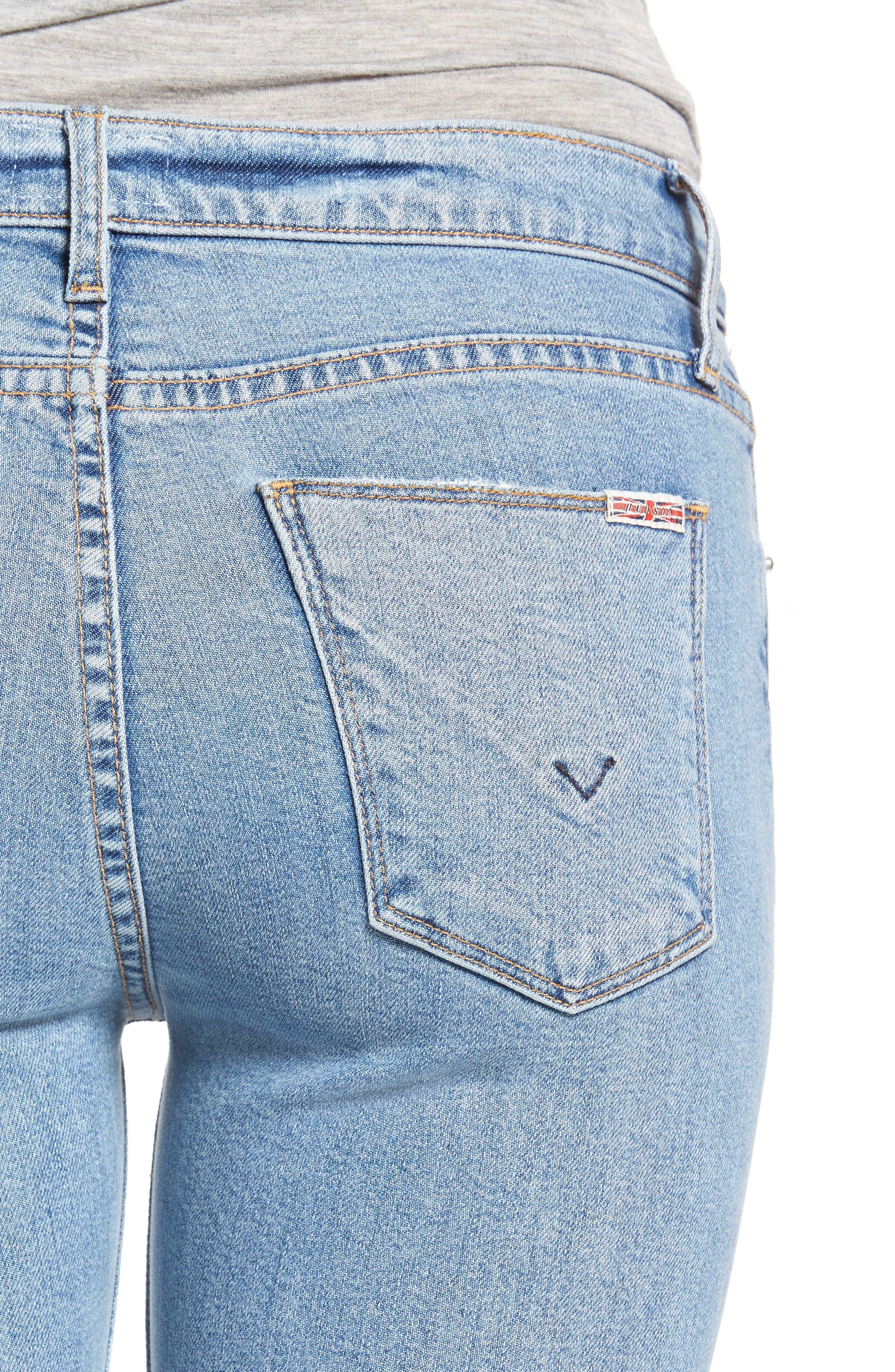 Nico Raw Hem Ankle Super Skinny Jeans,                             Alternate thumbnail 4, color,                             Hooligan