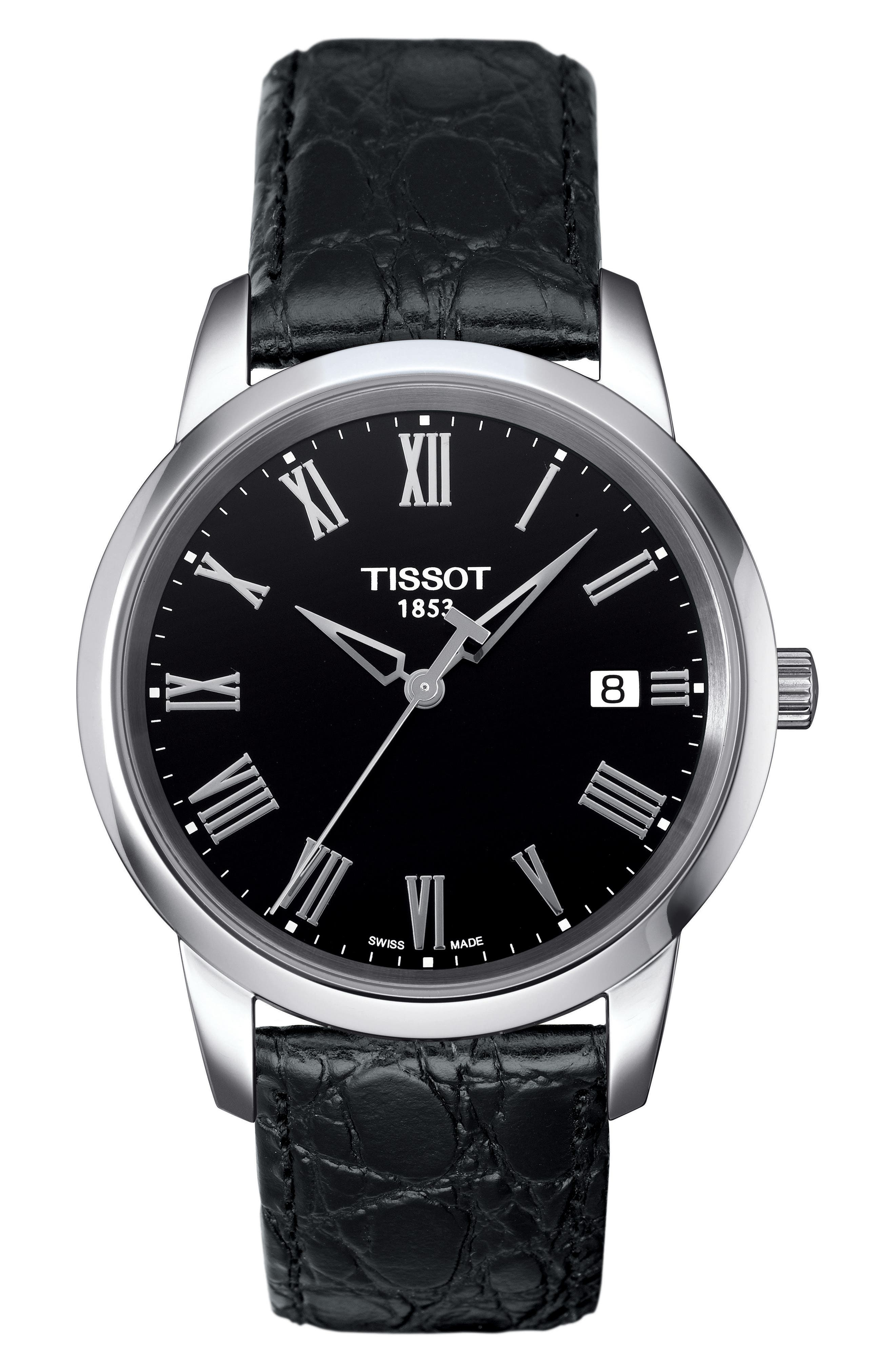 TISSOT Classic Dream Leather Strap Watch, 38mm