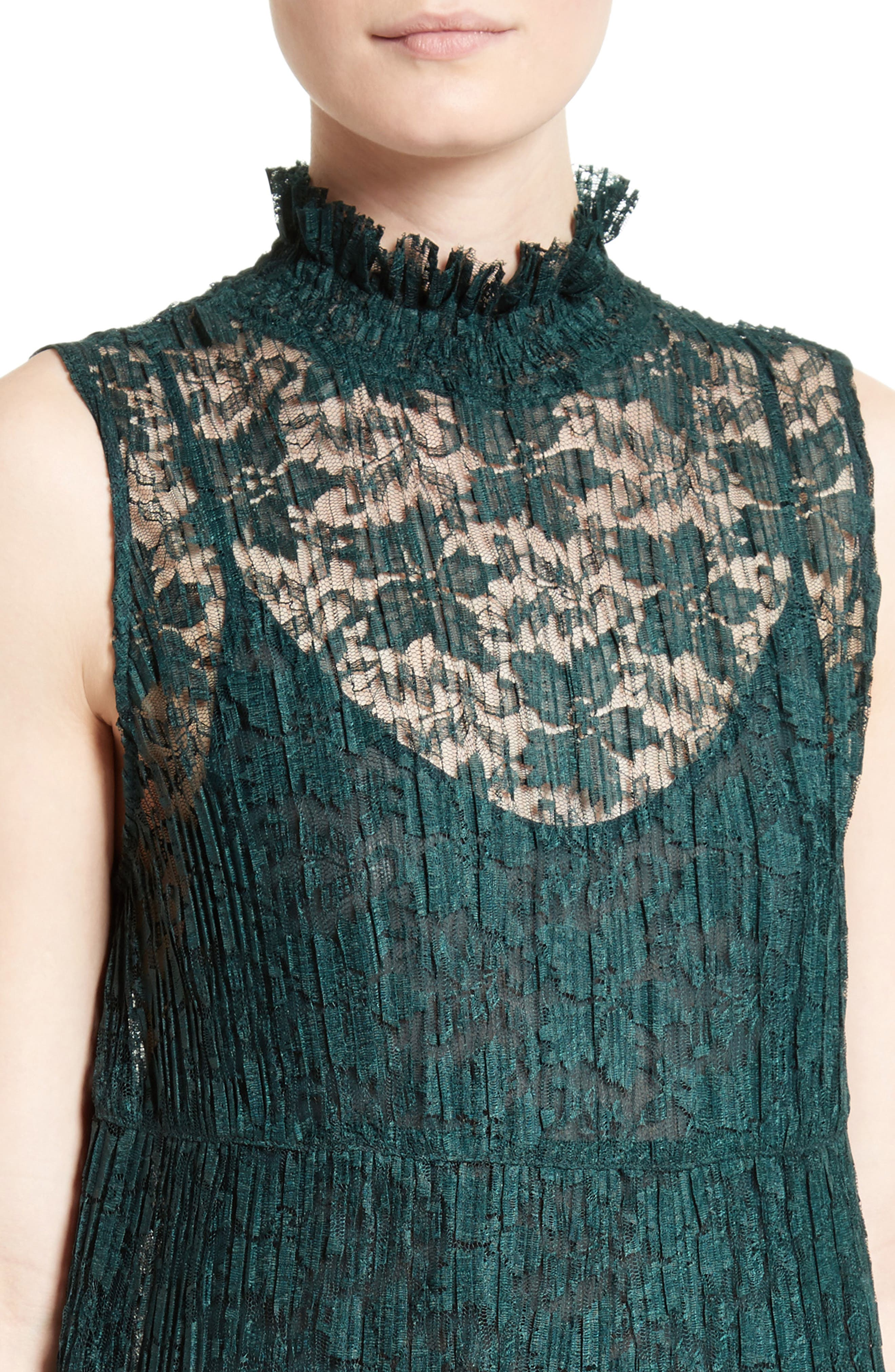 Alternate Image 4  - See by Chloé Lace Ruffle Neck Dress
