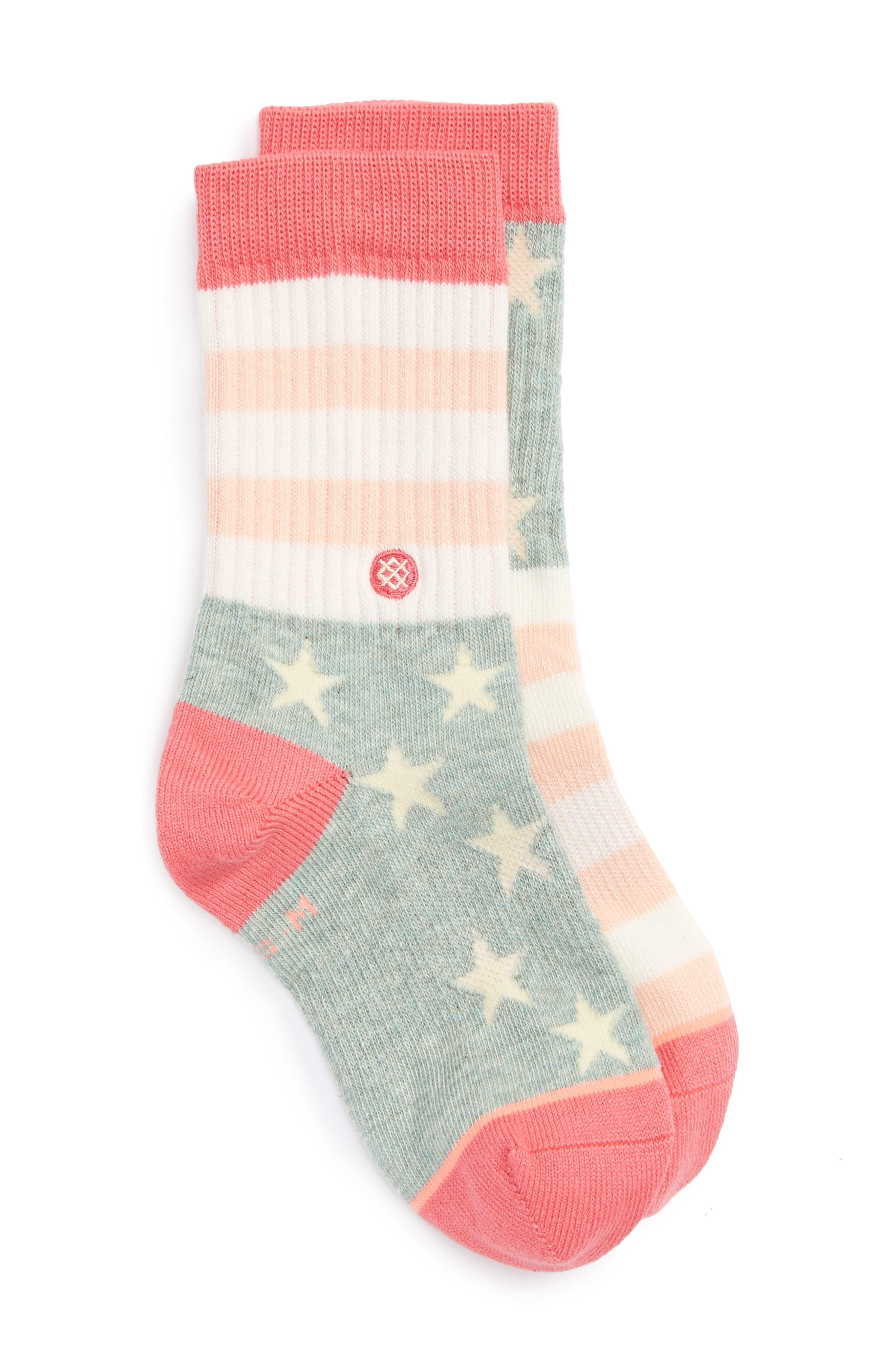Liberty Socks,                             Main thumbnail 1, color,                             Pink Multi