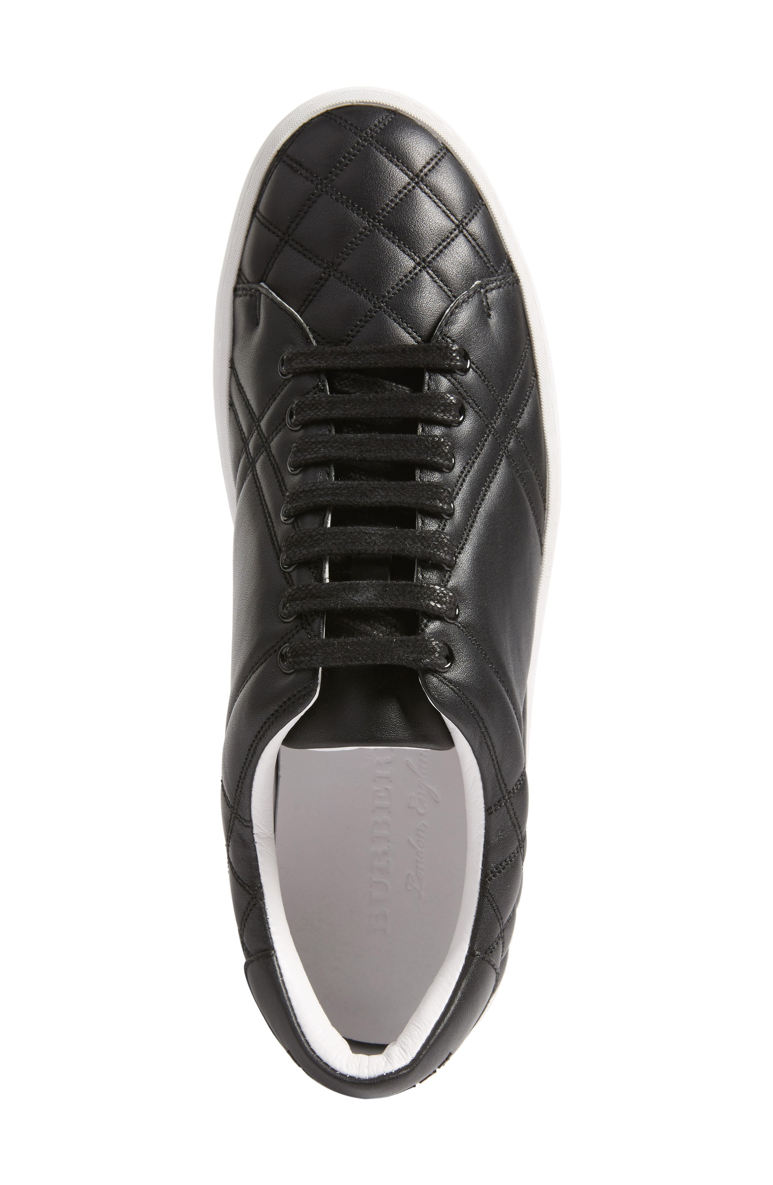 Alternate Image 5  - Burberry Check Quilted Leather Sneaker (Women)