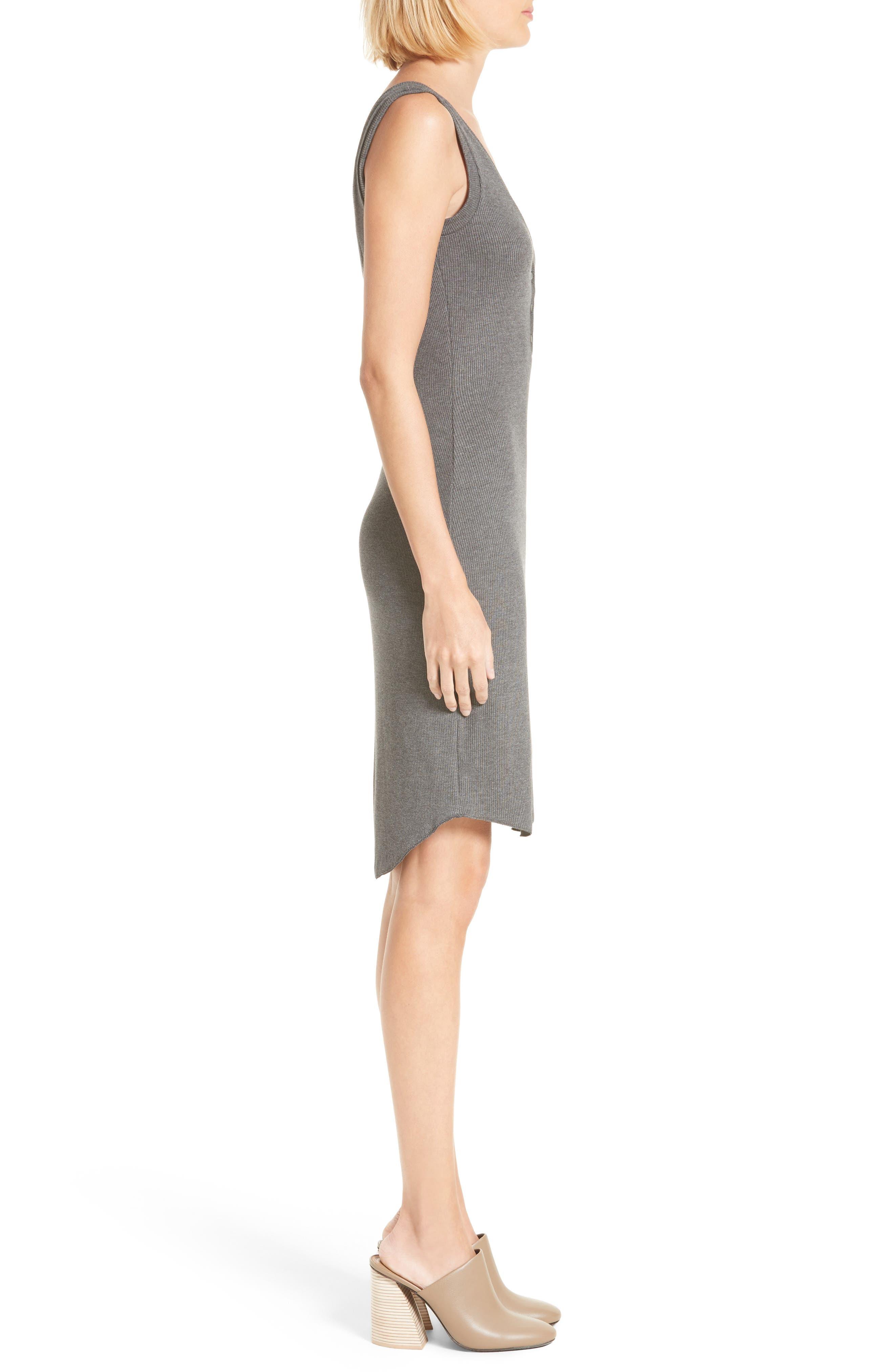 Alternate Image 3  - L'AGENCE Everly Henley Tank Dress