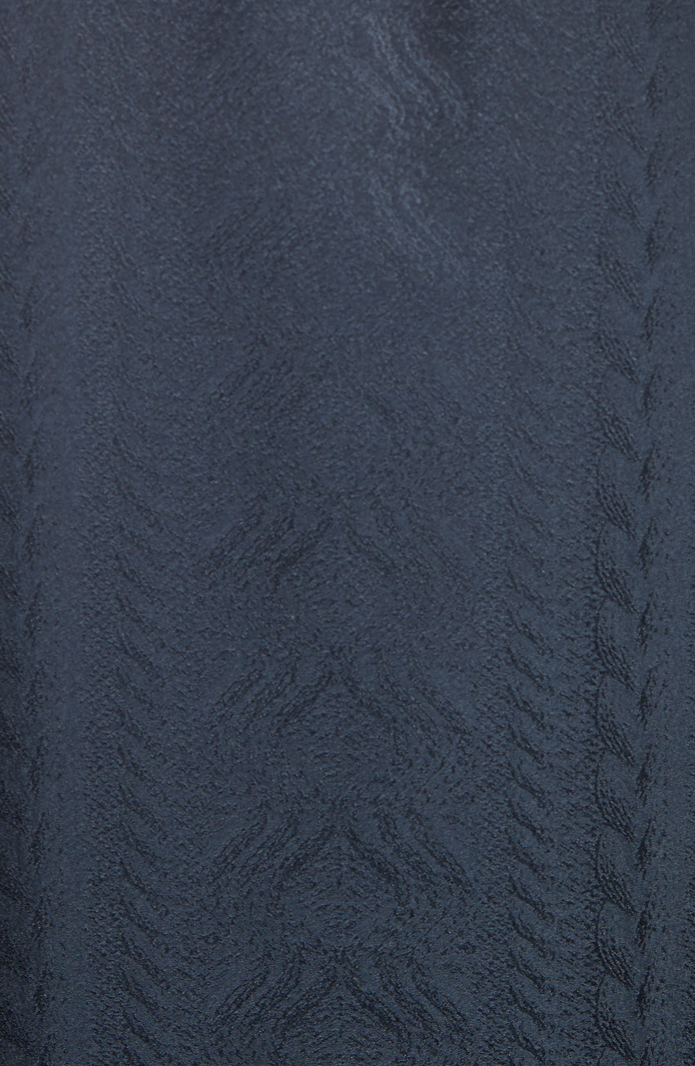Embroidered Silk Jacquard Blouse,                             Alternate thumbnail 3, color,                             Midnight