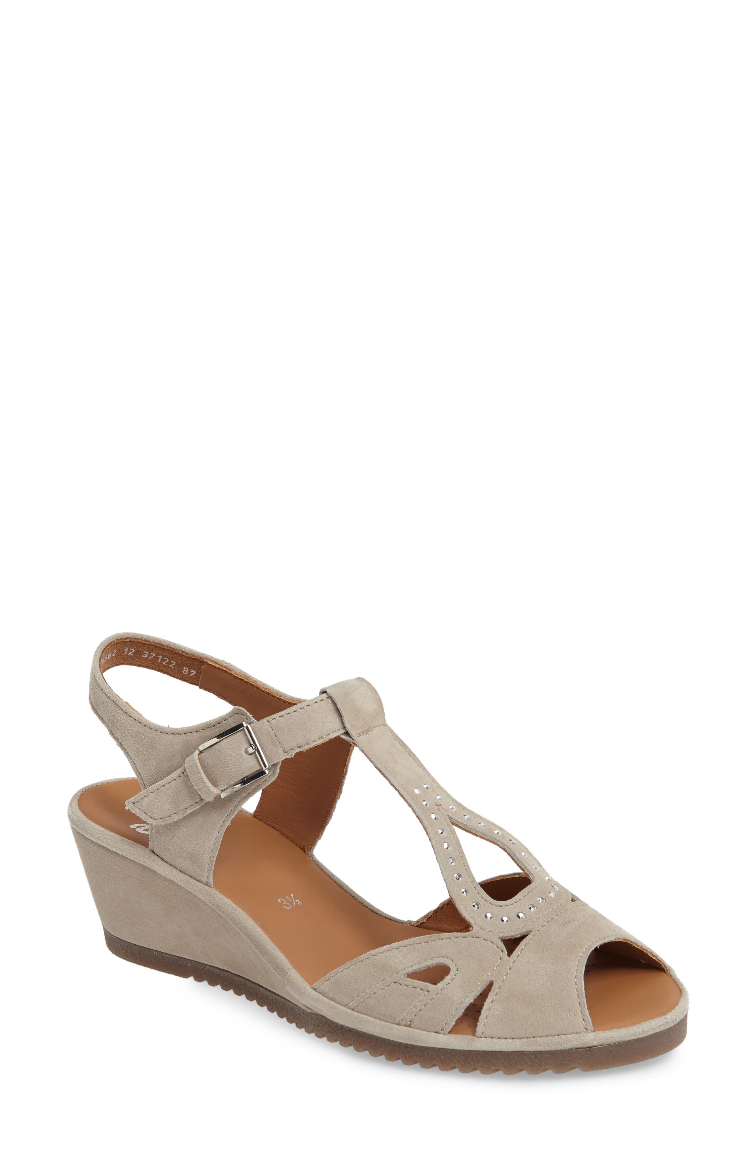 Alternate Image 1 Selected - ara Wedge Sandal (Women)