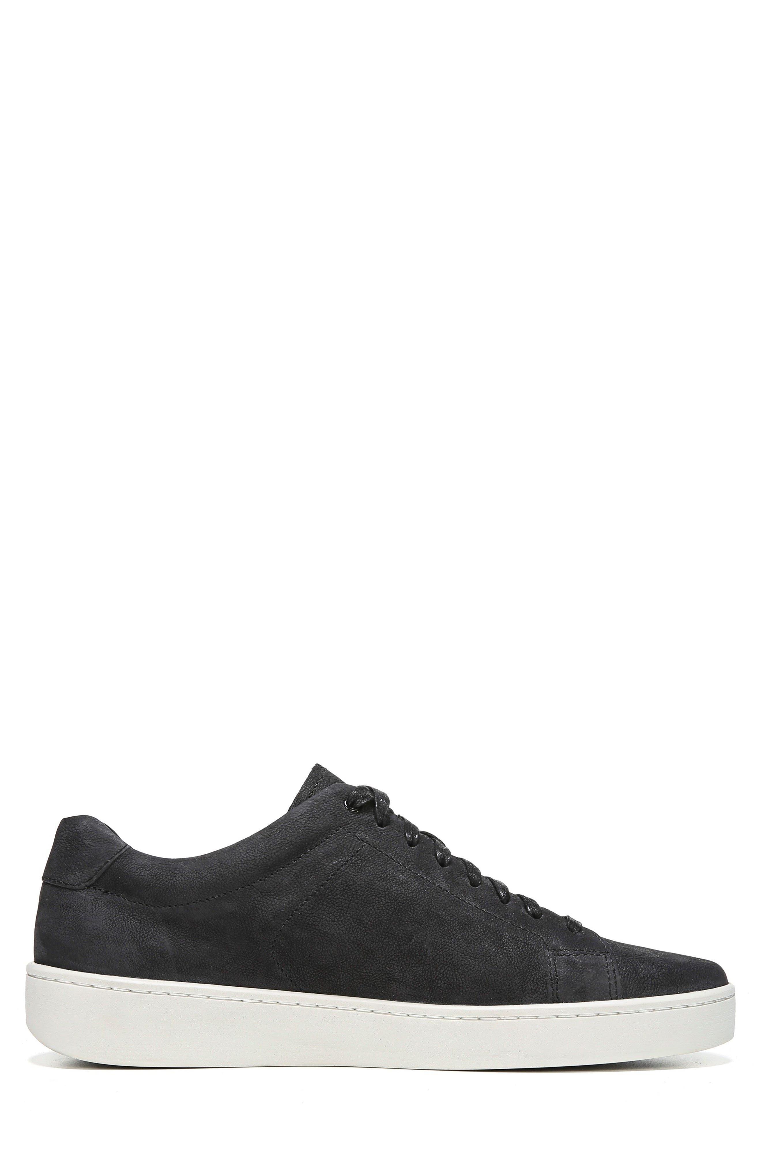 Vince Slater Washed Nubuck Sneaker Granite Gray Modesens
