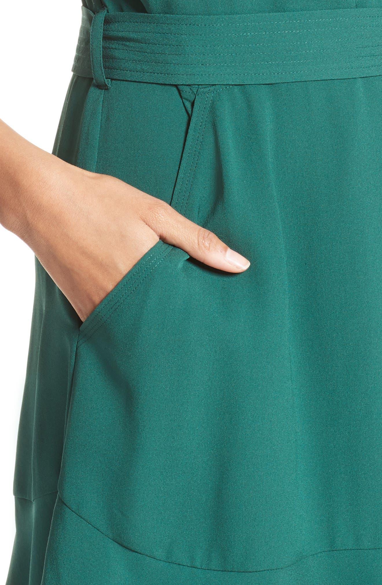 Alternate Image 4  - A.L.C. Micah Silk Wrap Dress