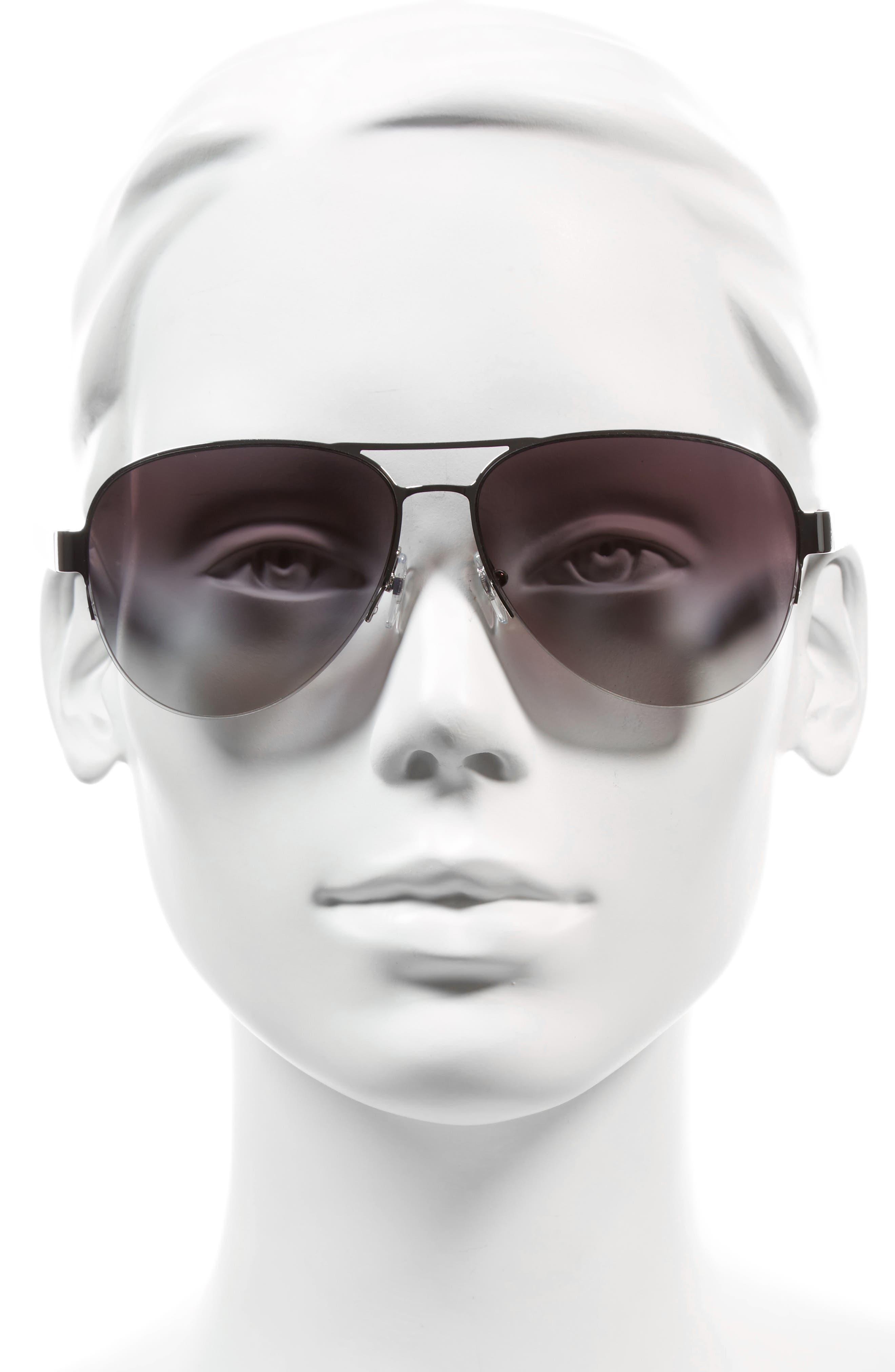 Alternate Image 2  - Tory Burch 59mm Aviator Sunglasses