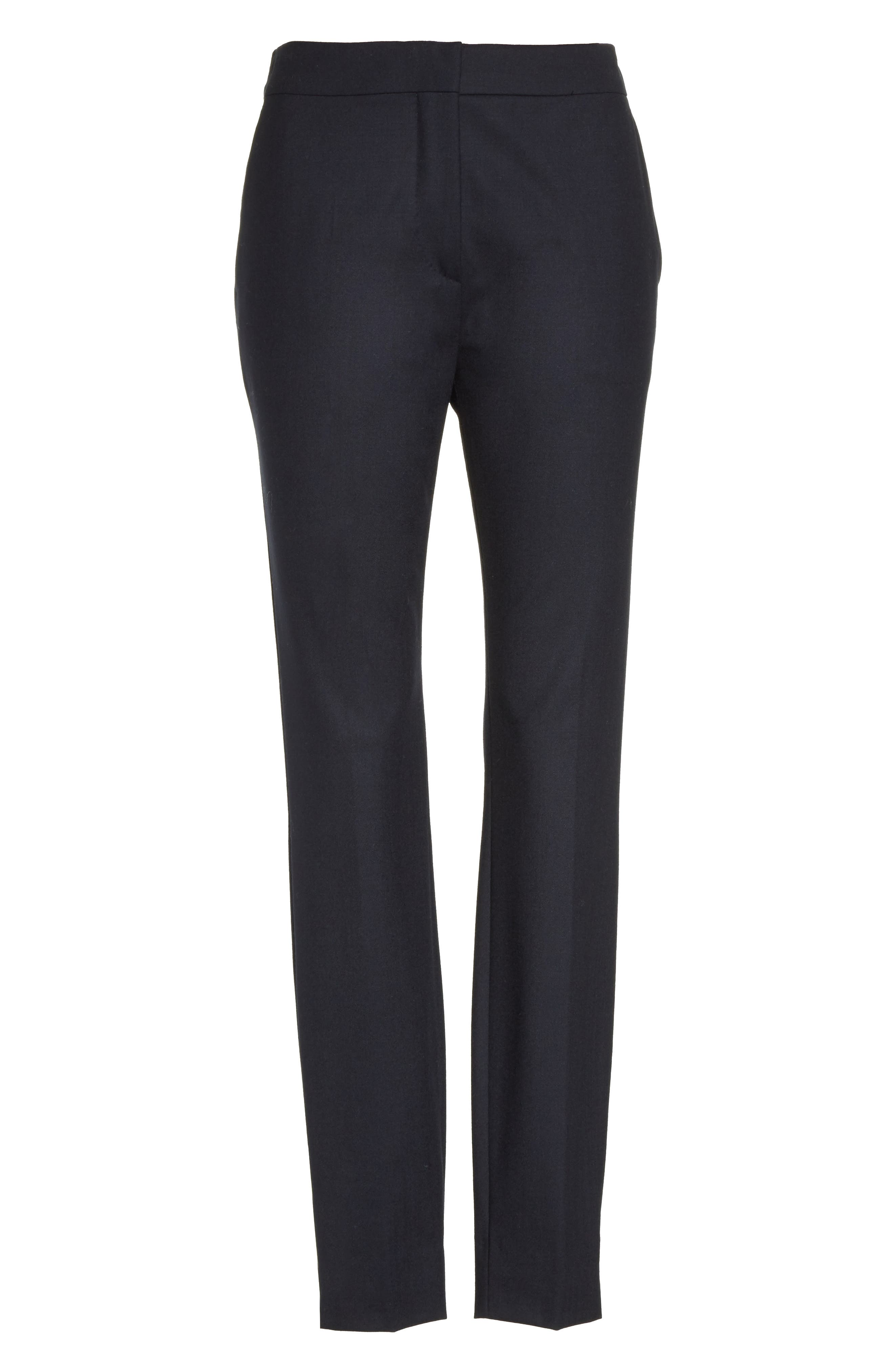 Maser Crop Stretch Wool Pants,                             Alternate thumbnail 4, color,                             Ultra Marine