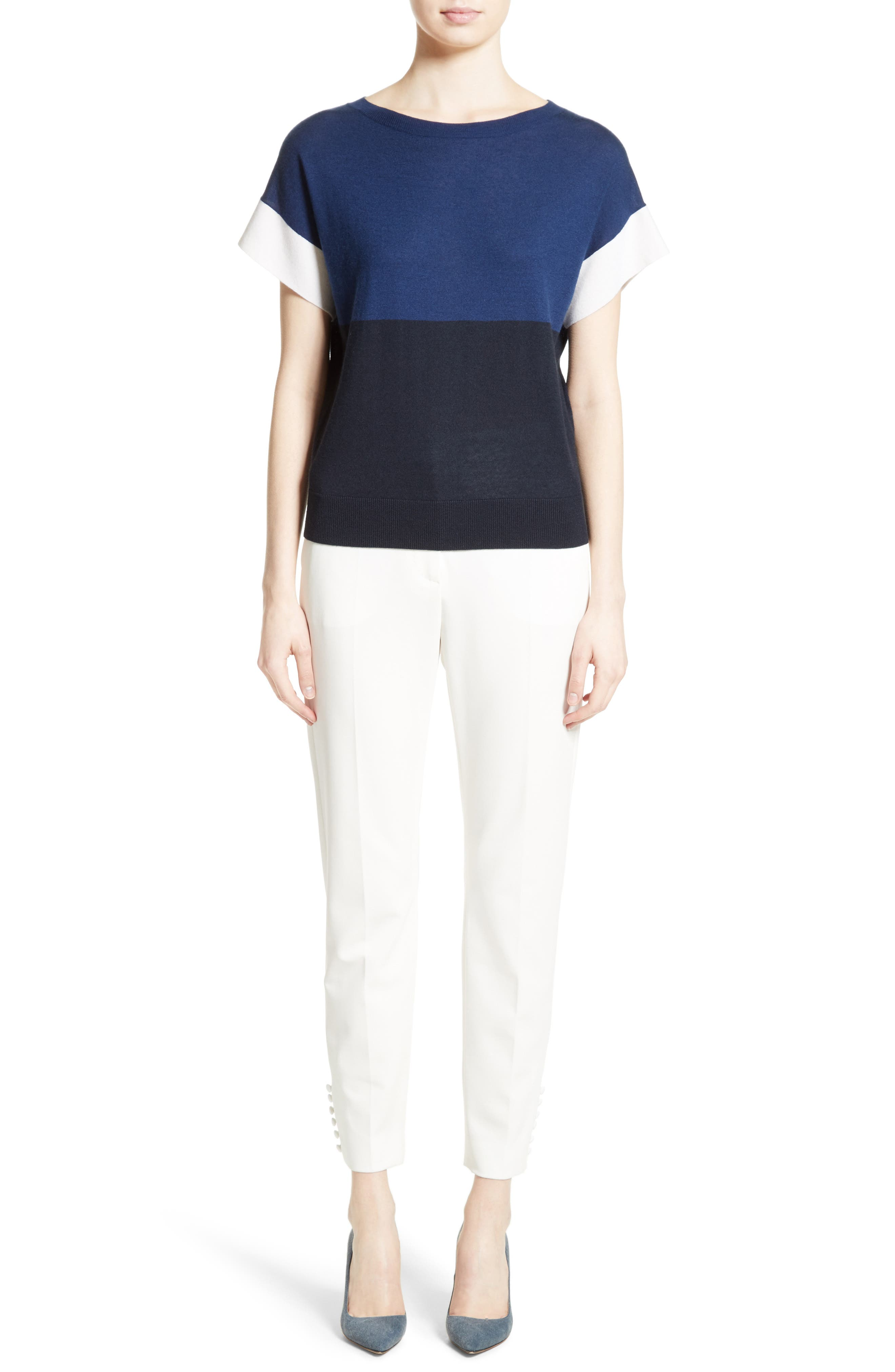 Alternate Image 6  - Max Mara Colimbo Silk & Cashmere Top