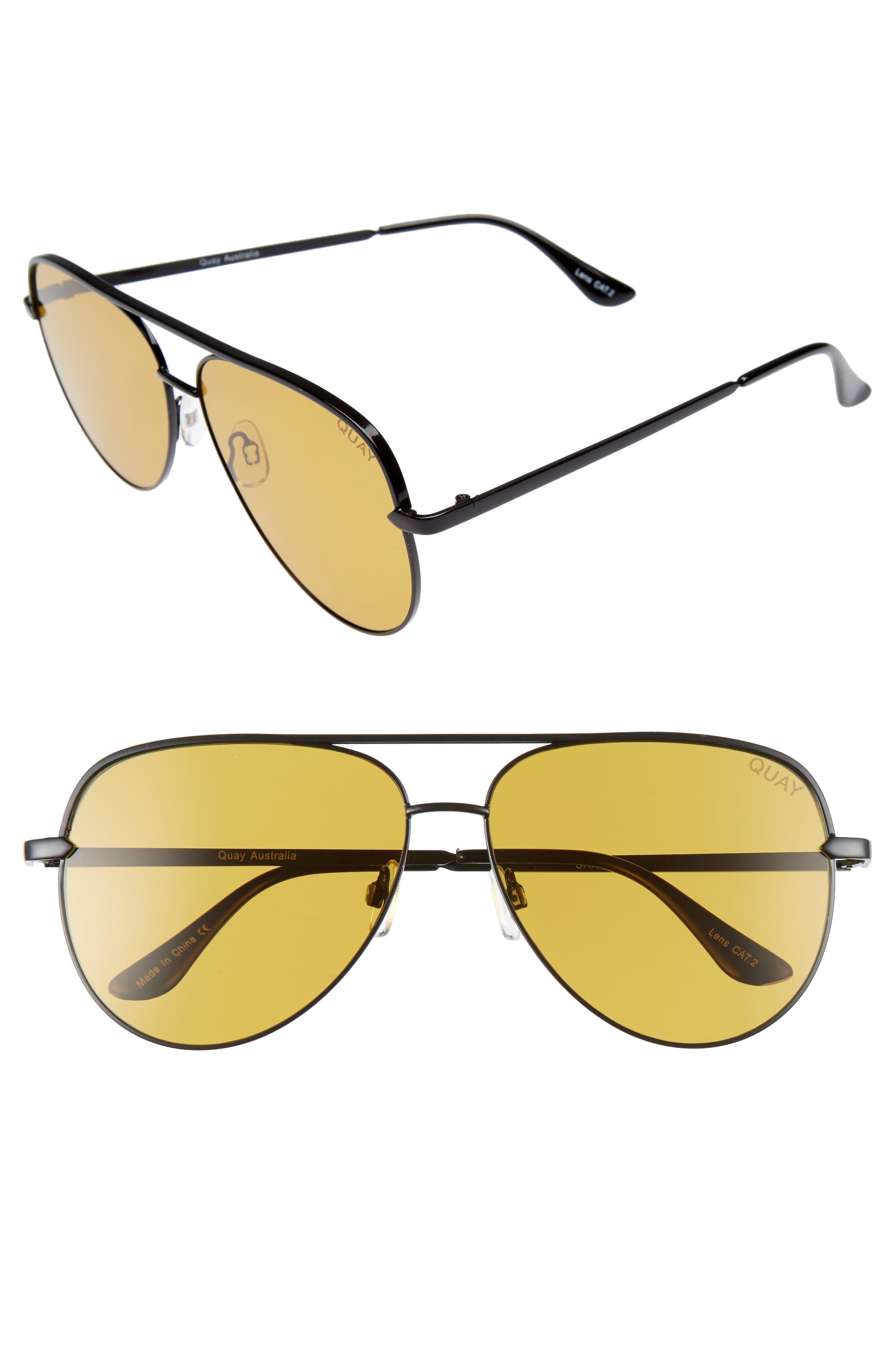 Quay Australia x Desi Perkins Sahara 60mm Aviator Sunglasses