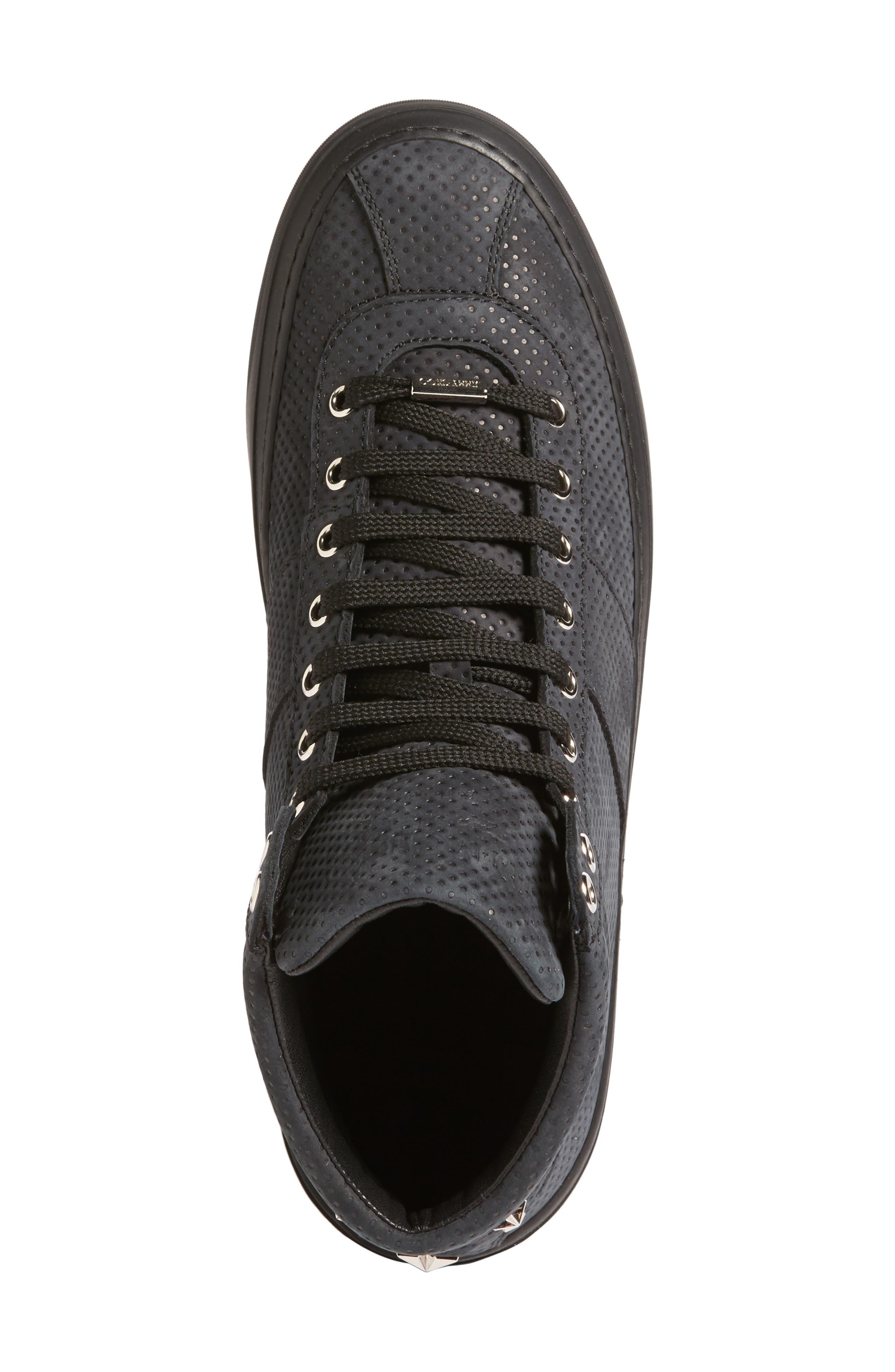 Belgravi Sneaker,                             Alternate thumbnail 5, color,                             Black/ Steel