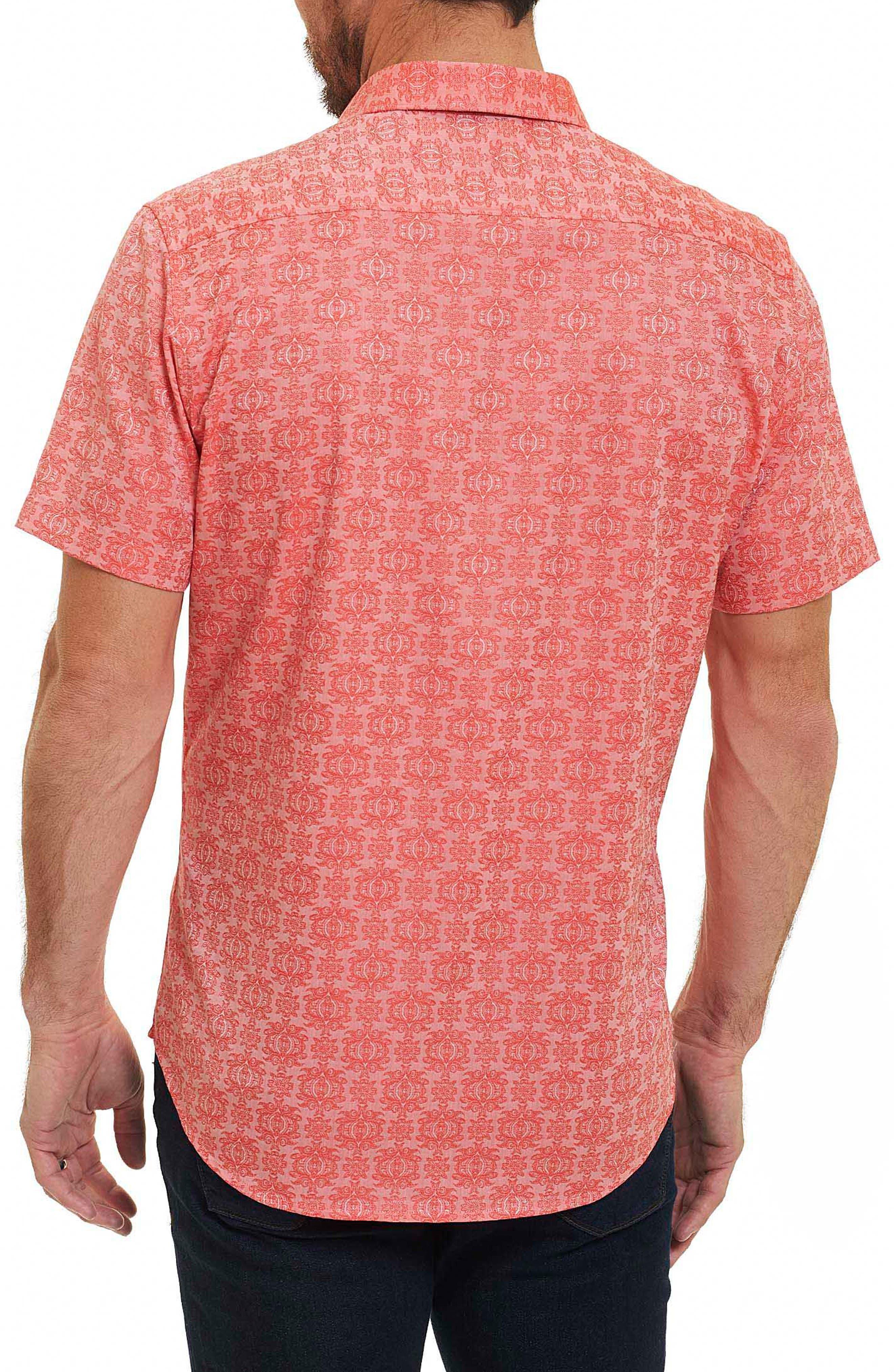 Cullen Regular Fit Sport Shirt,                             Alternate thumbnail 2, color,                             Coral