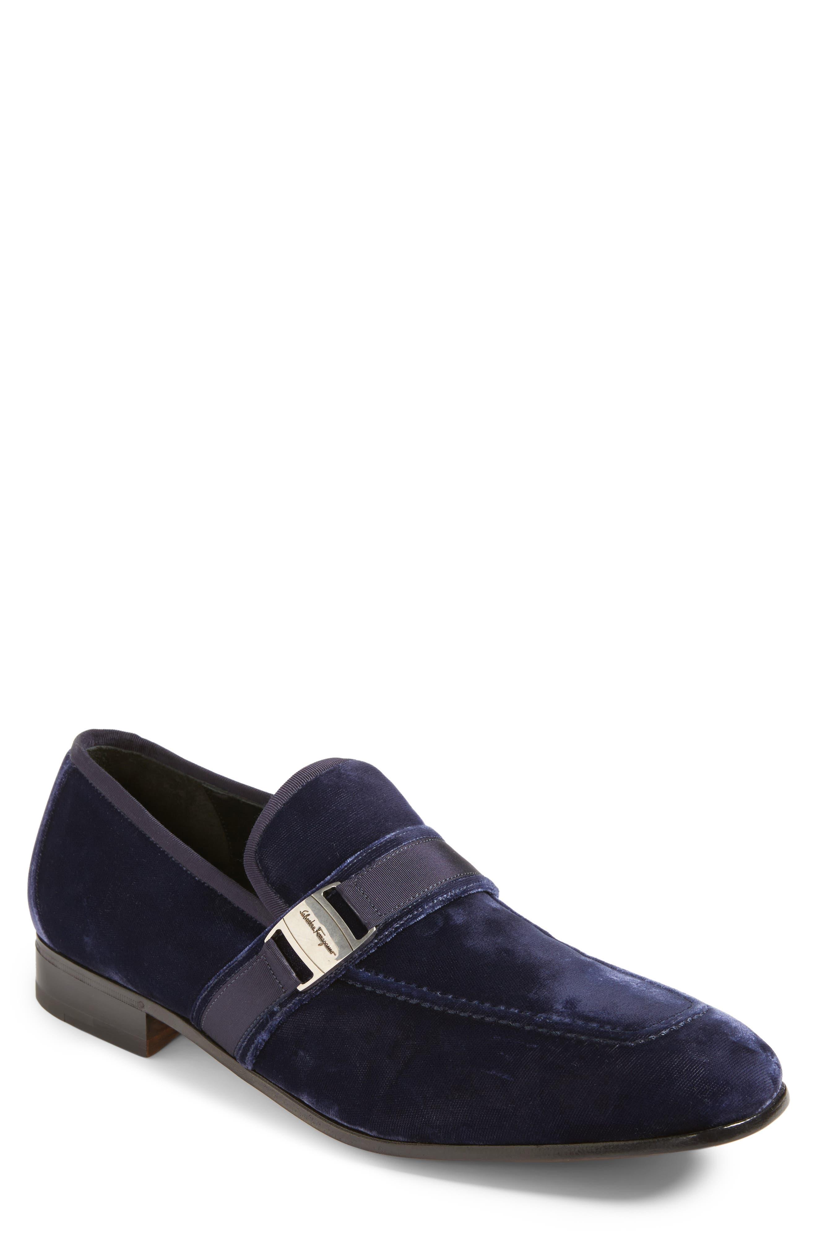 Danny 2 Bit Loafer,                         Main,                         color, Blue Marine Velvet