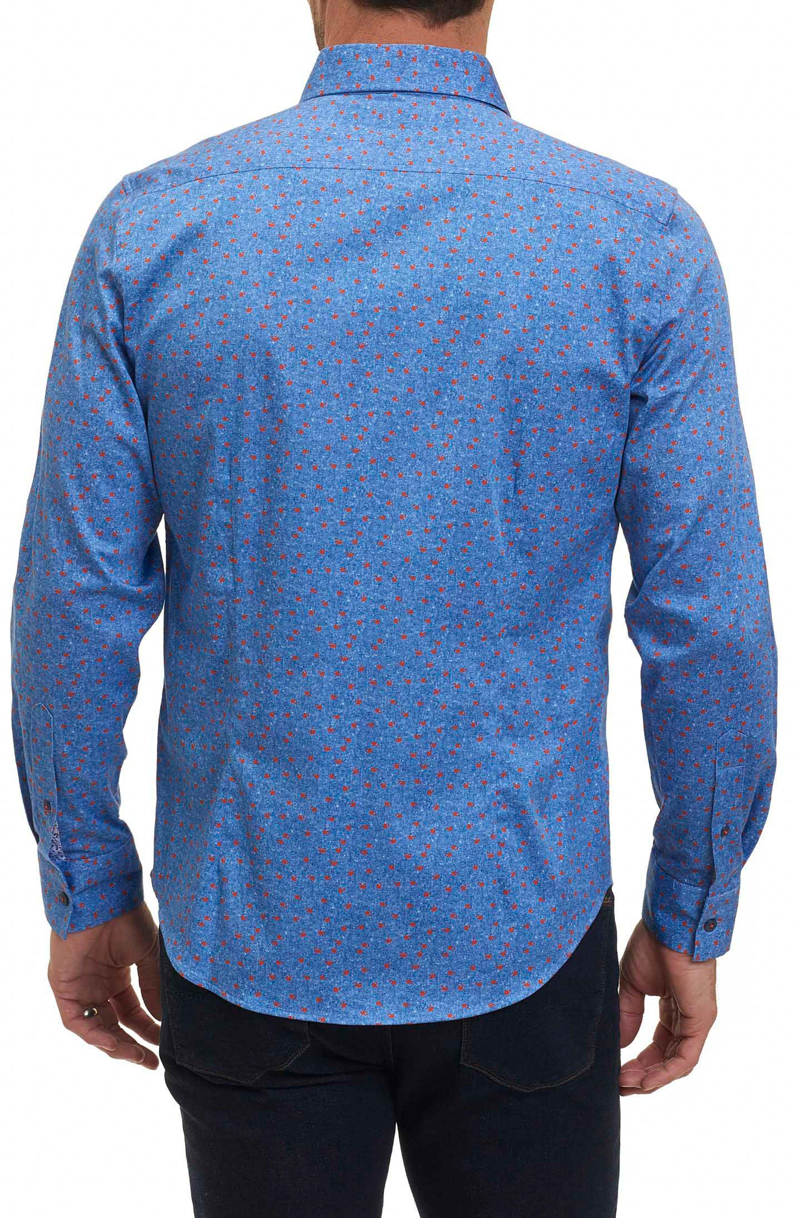 Zander Tailored Fit Sport Shirt,                             Alternate thumbnail 2, color,                             Blue