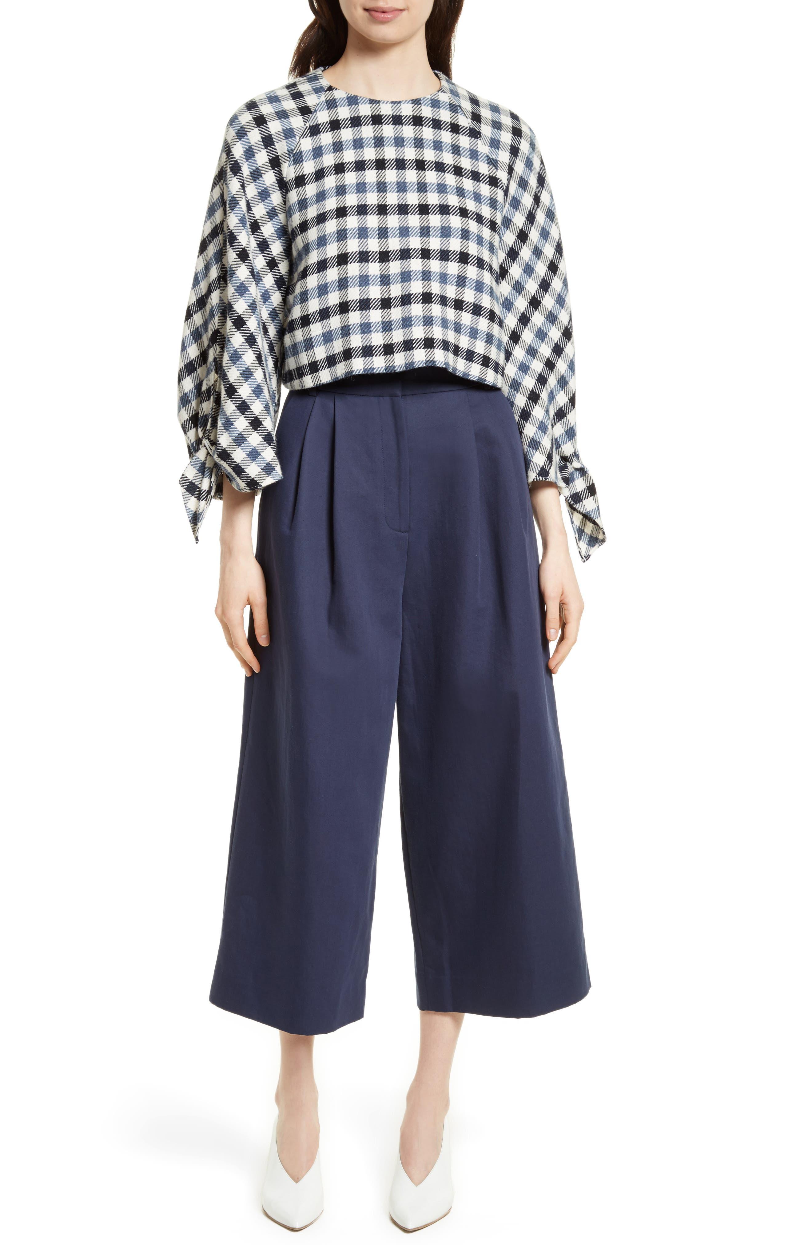 Chassis Plain Weave Crop Pants,                             Alternate thumbnail 2, color,                             Navy