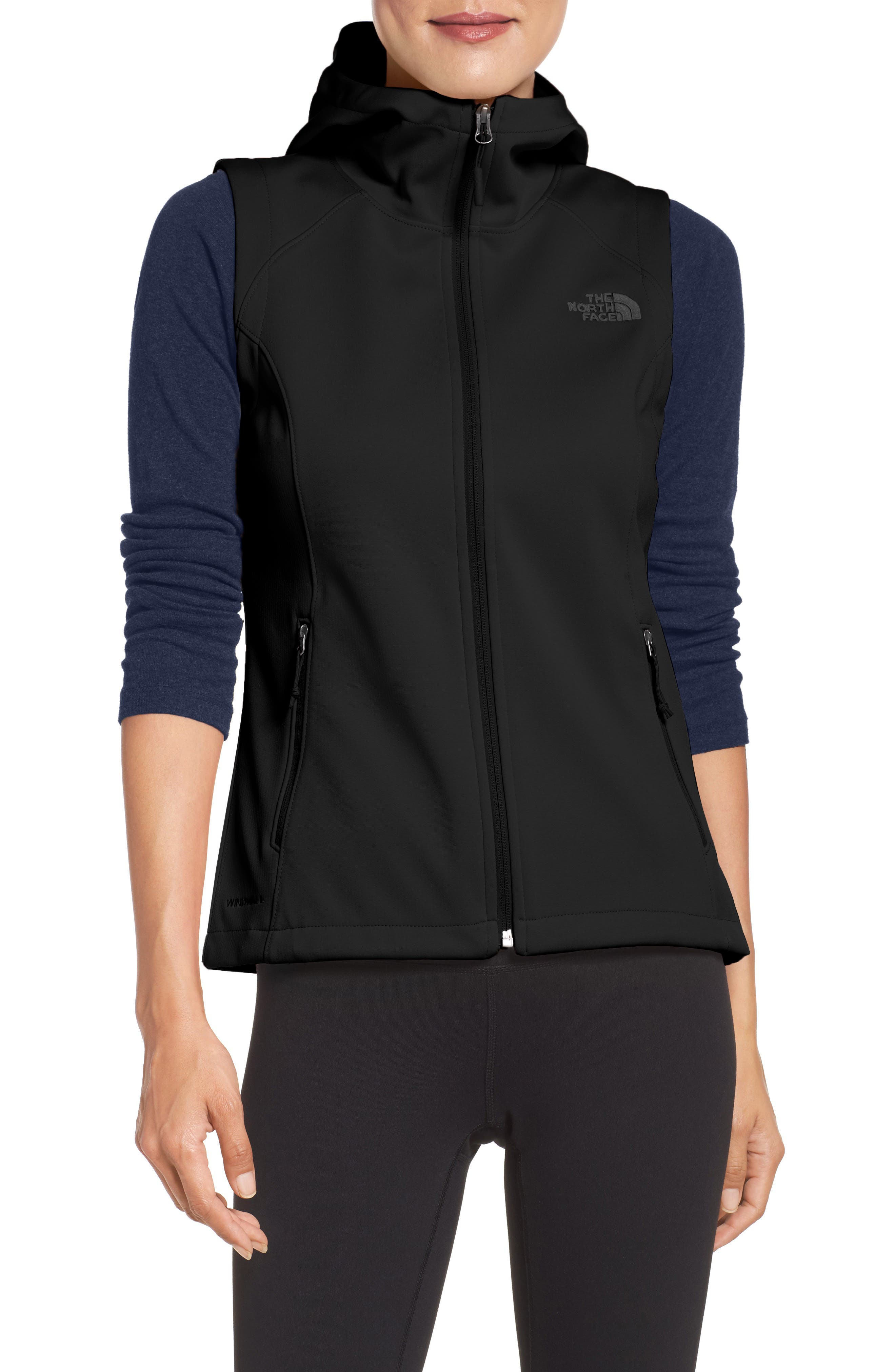 Canyonwall Hardface Fleece Vest,                             Main thumbnail 1, color,                             Tnf Black