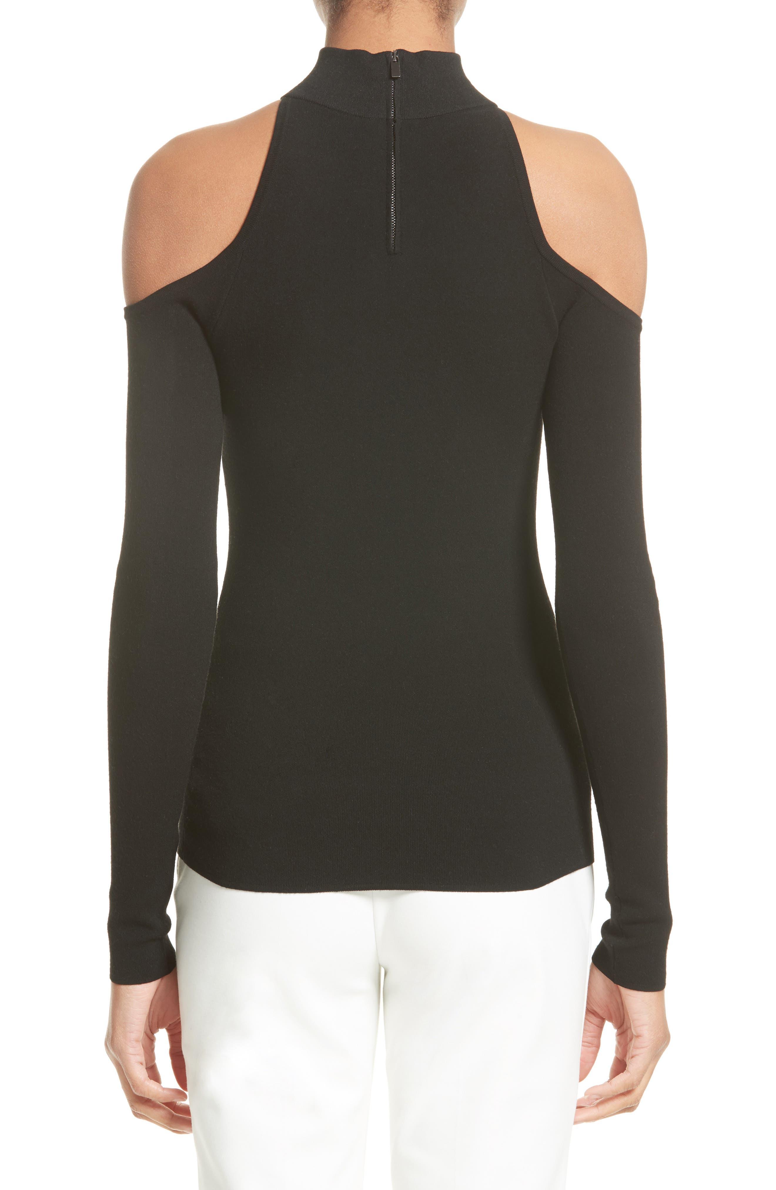 Alternate Image 2  - Michael Kors Cold Shoulder Stretch Knit Top