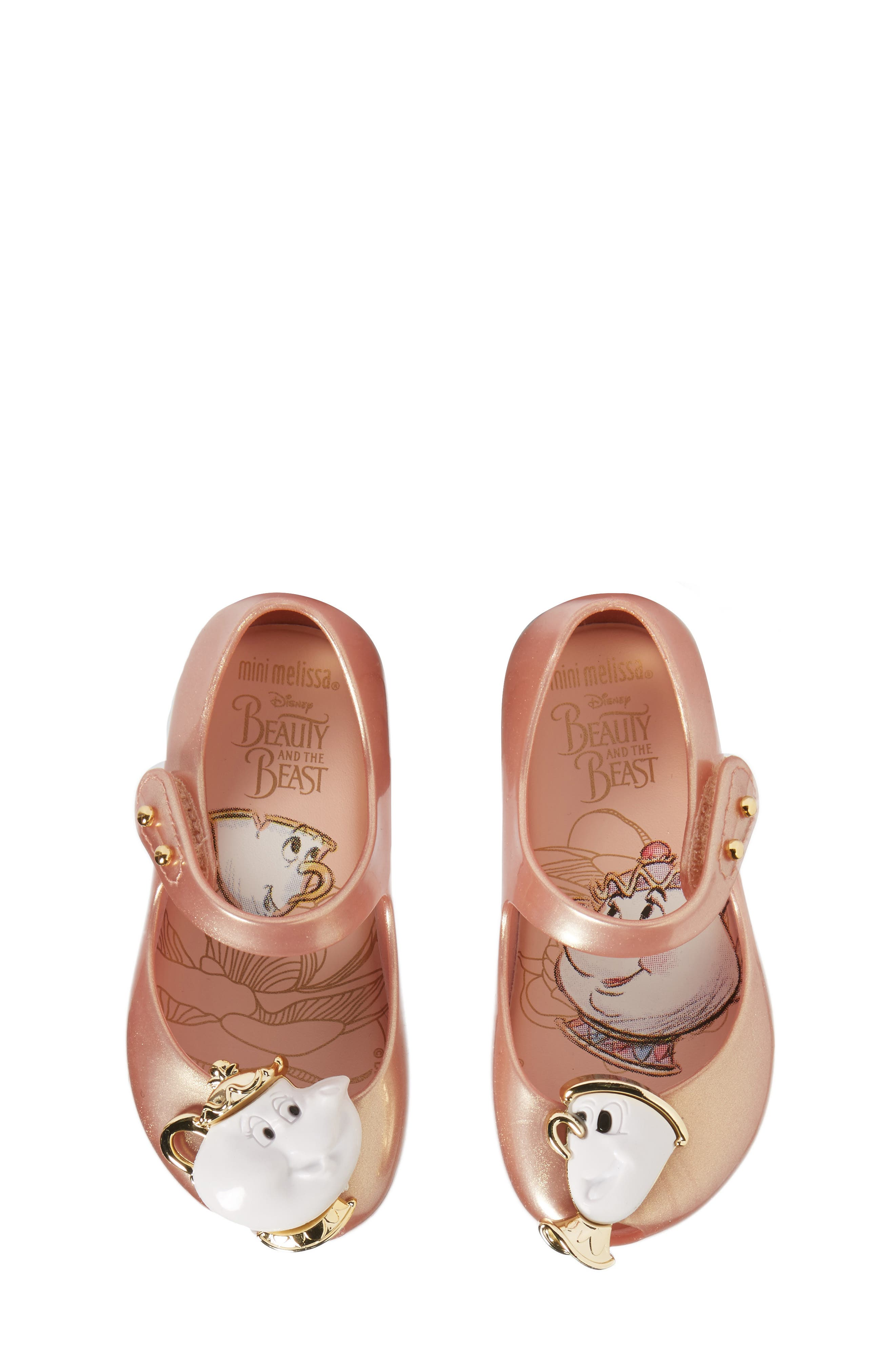 Mini Melissa Ultragirl Beauty & The Beast Mary Jane Flat (Walker & Toddler)