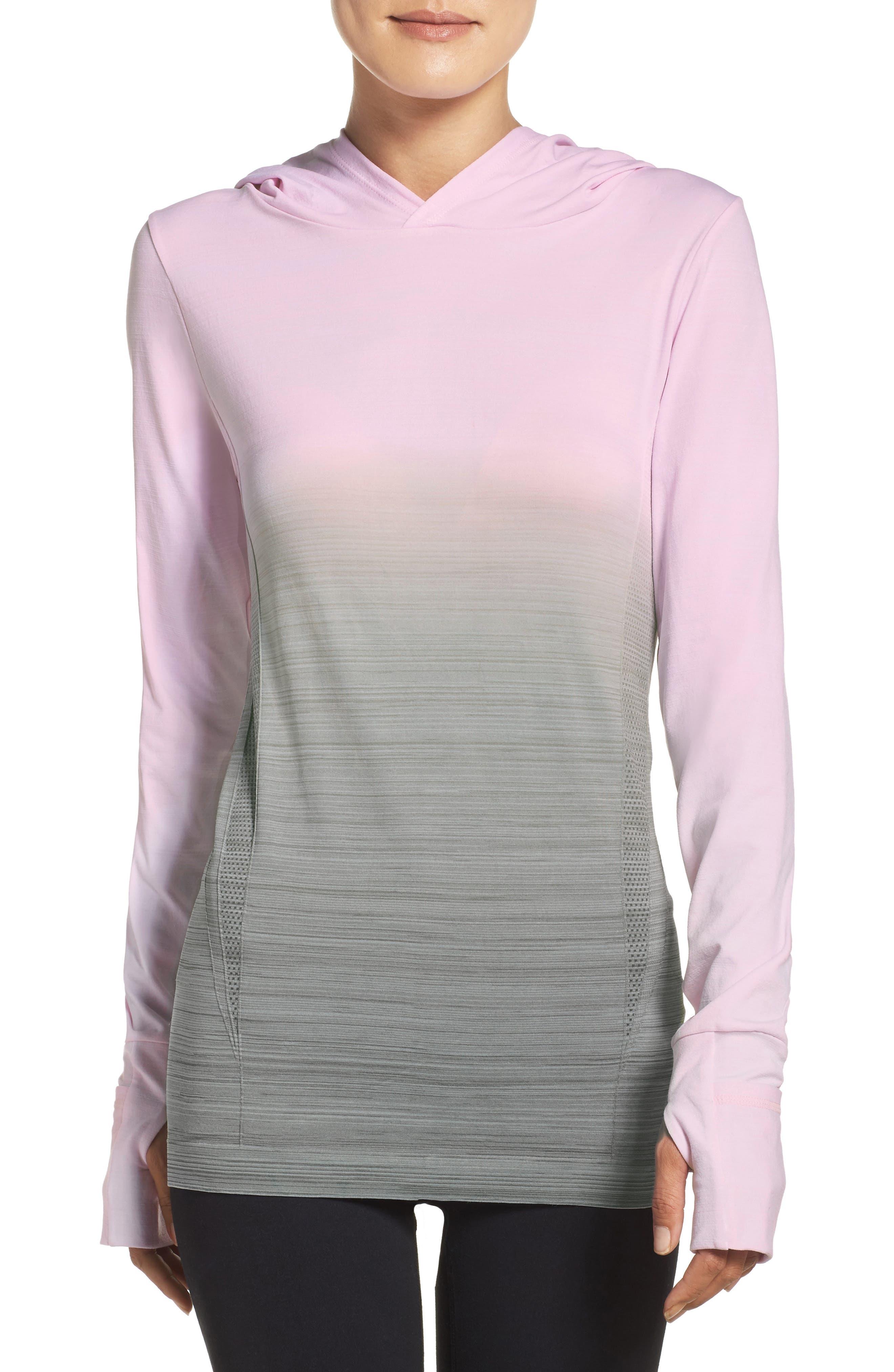 Smitten Hoodie,                         Main,                         color, Cradle Pink/ Olive