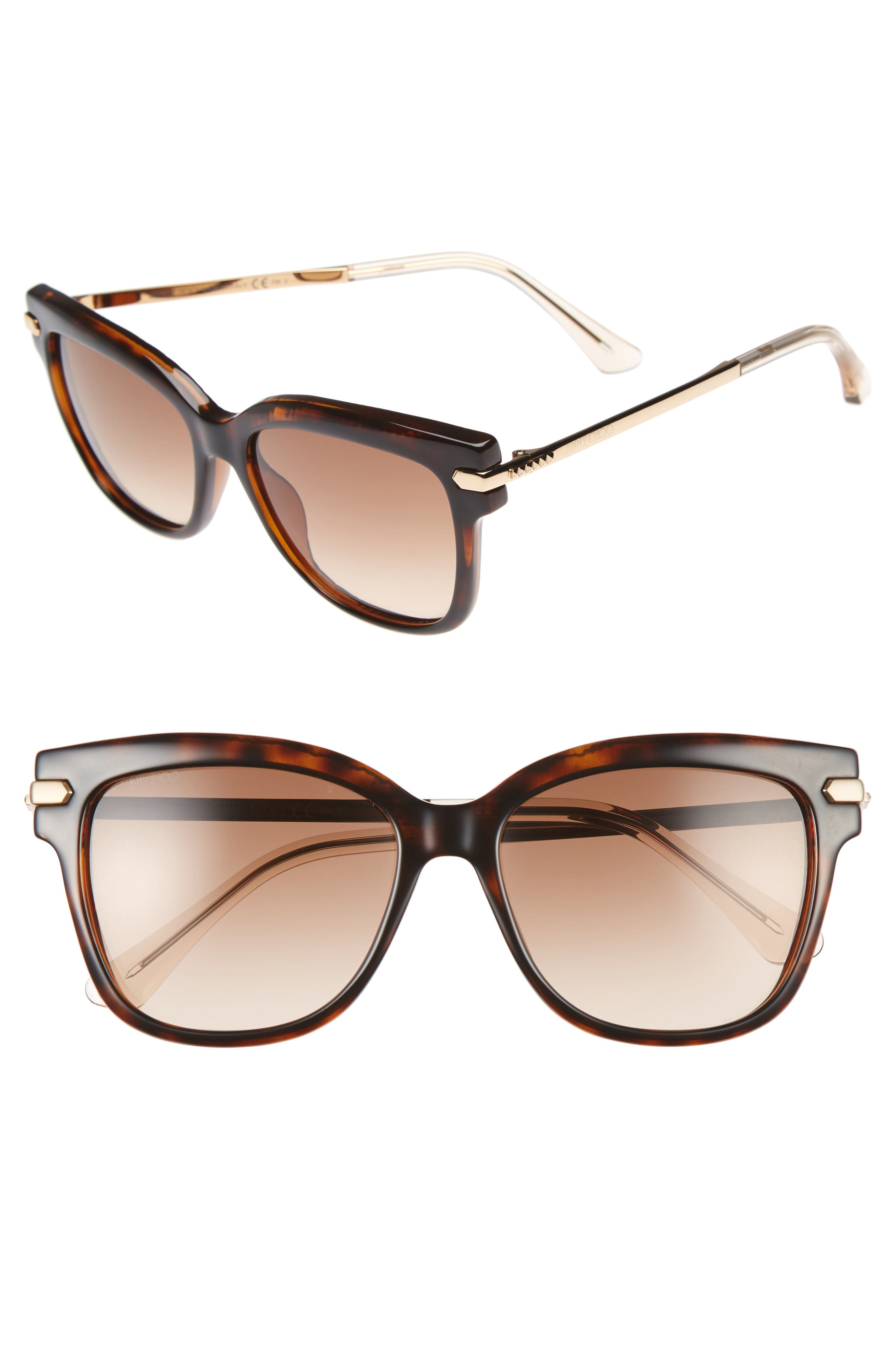 Jimmy Choo Aras 54mm Cat Eye Sunglasses