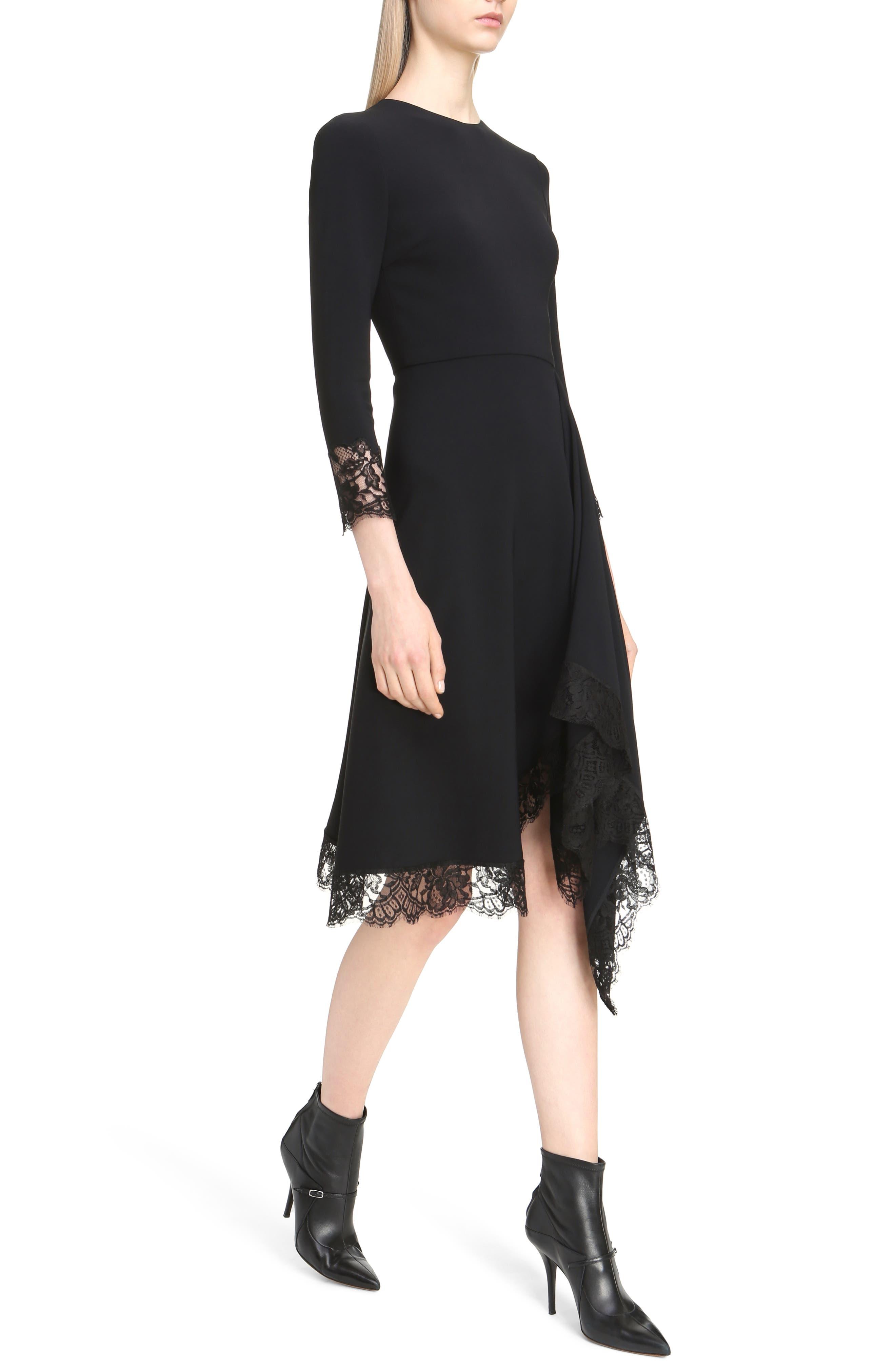 Alternate Image 5  - Givenchy Lace Trim Stretch Cady Asymmetrical Dress